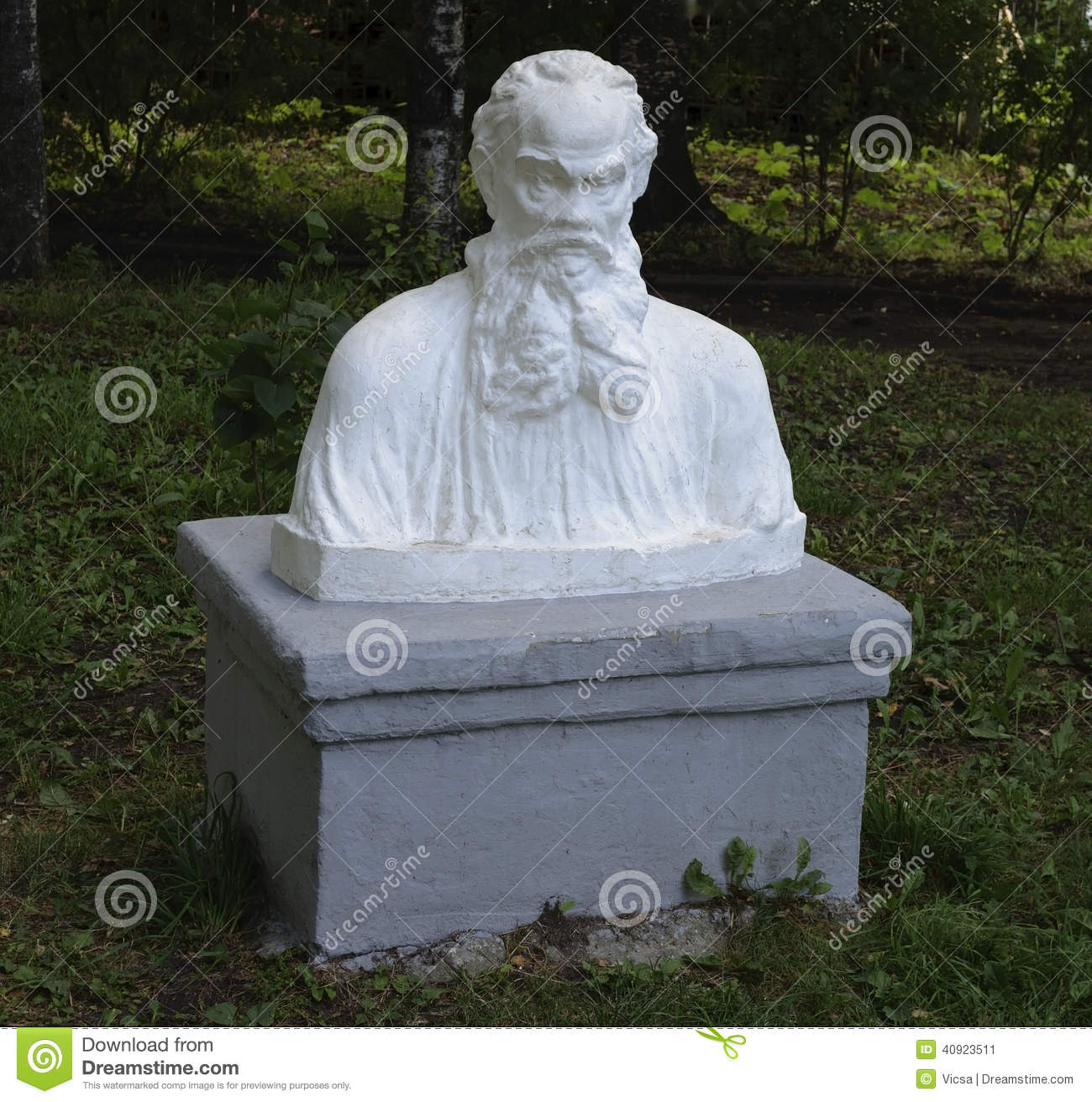 bust of leo tolstoy in park stock image image of novelist