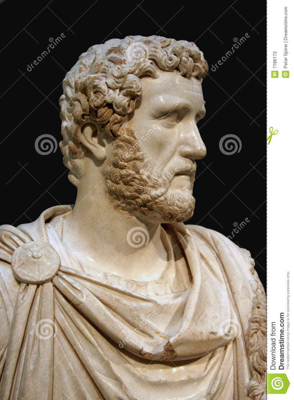 Bust Of Roman Emperor Stock Image Image Of King Marble