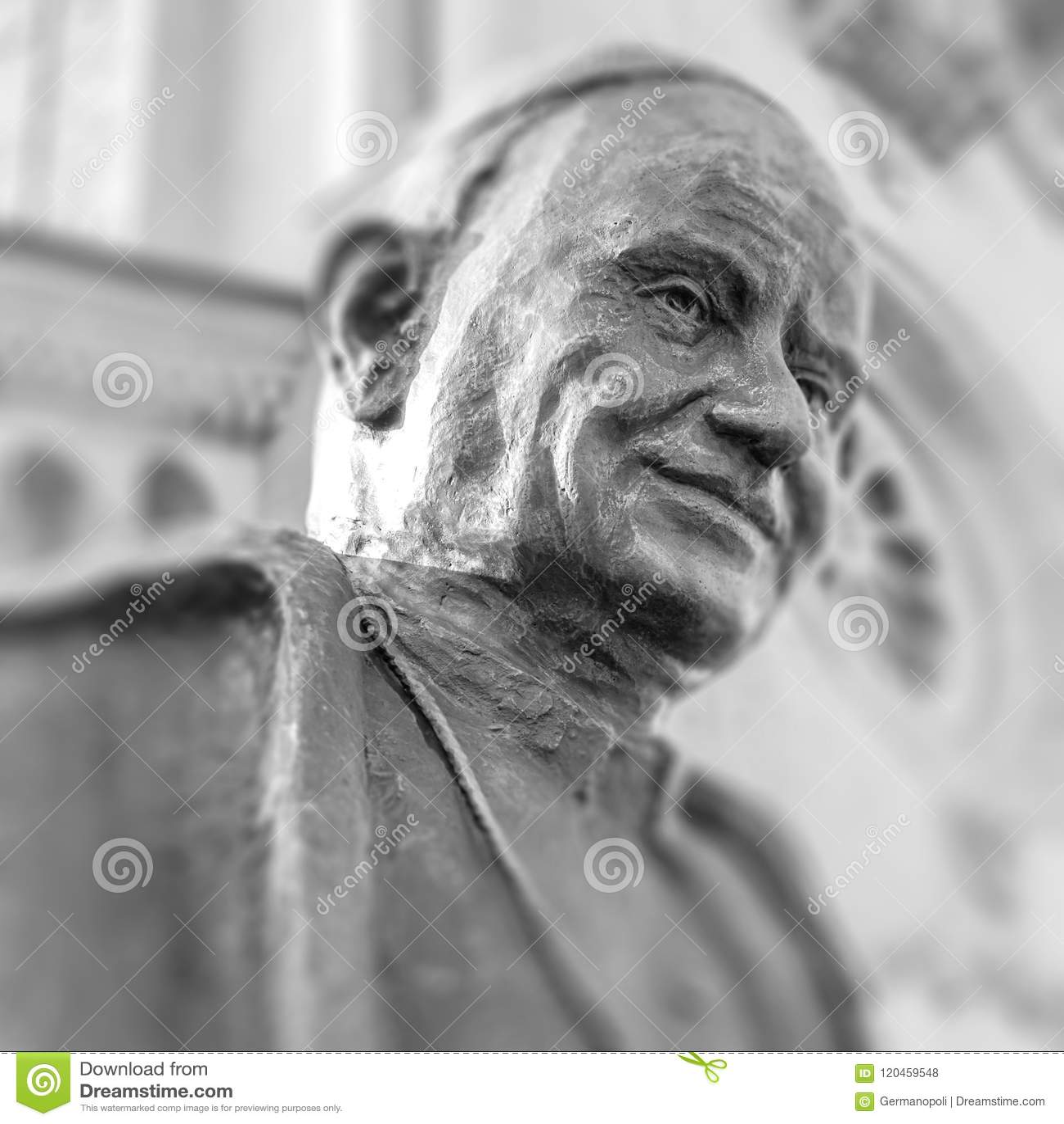Buste de statue de pape John de saint XIII