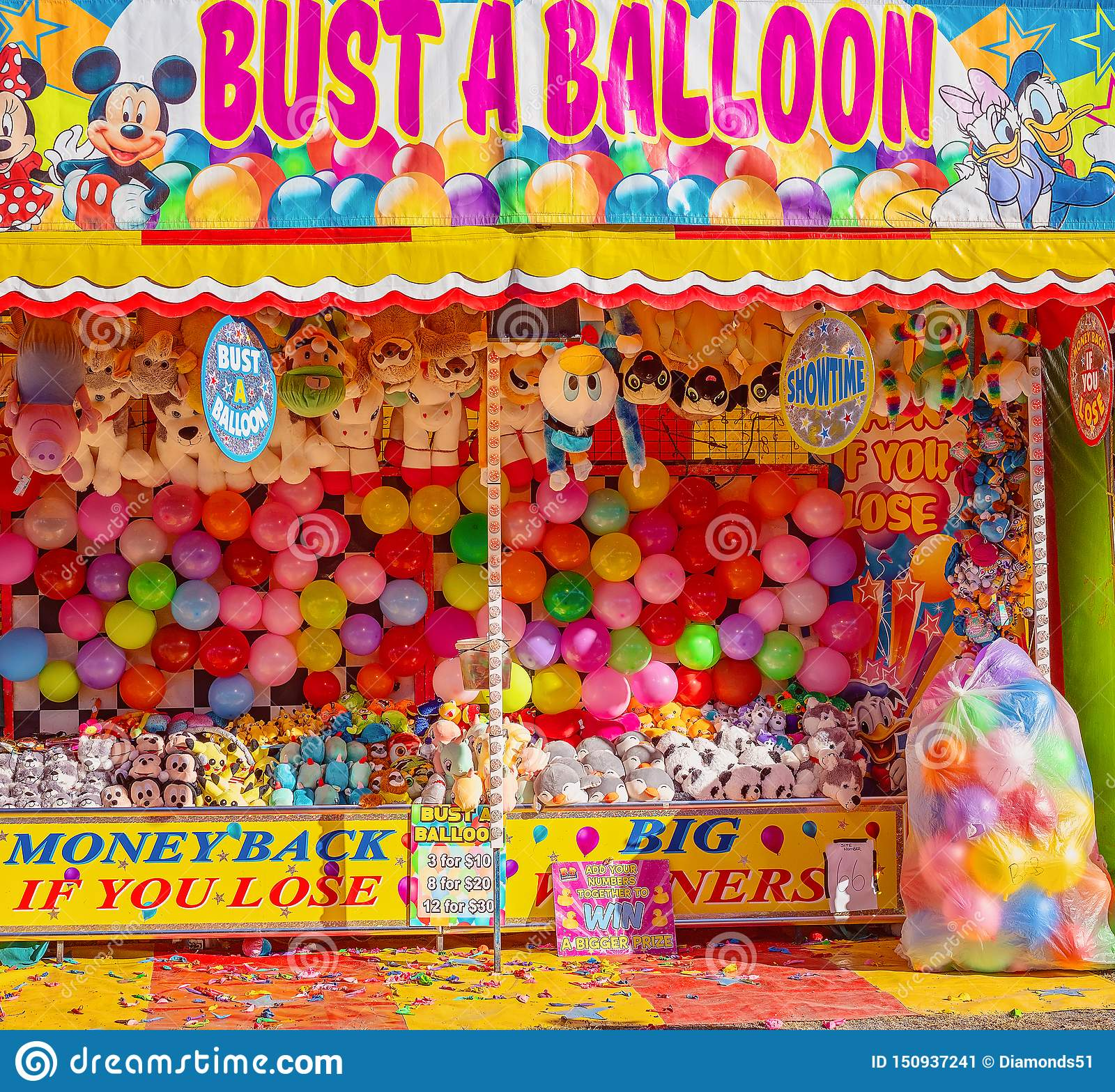 Busting Balloon Game At A Funfair