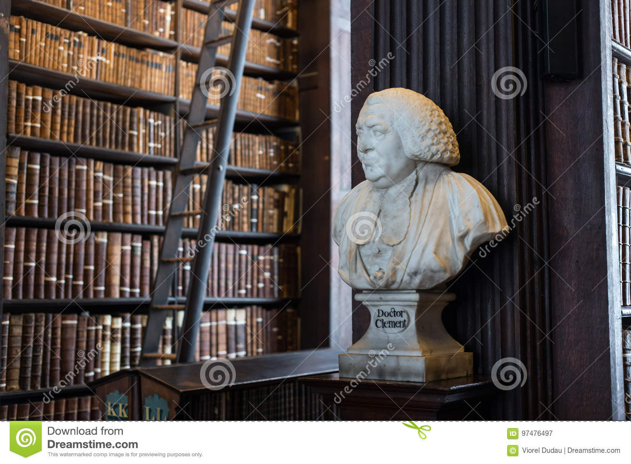 Busto del dottore Clement in Trinity College