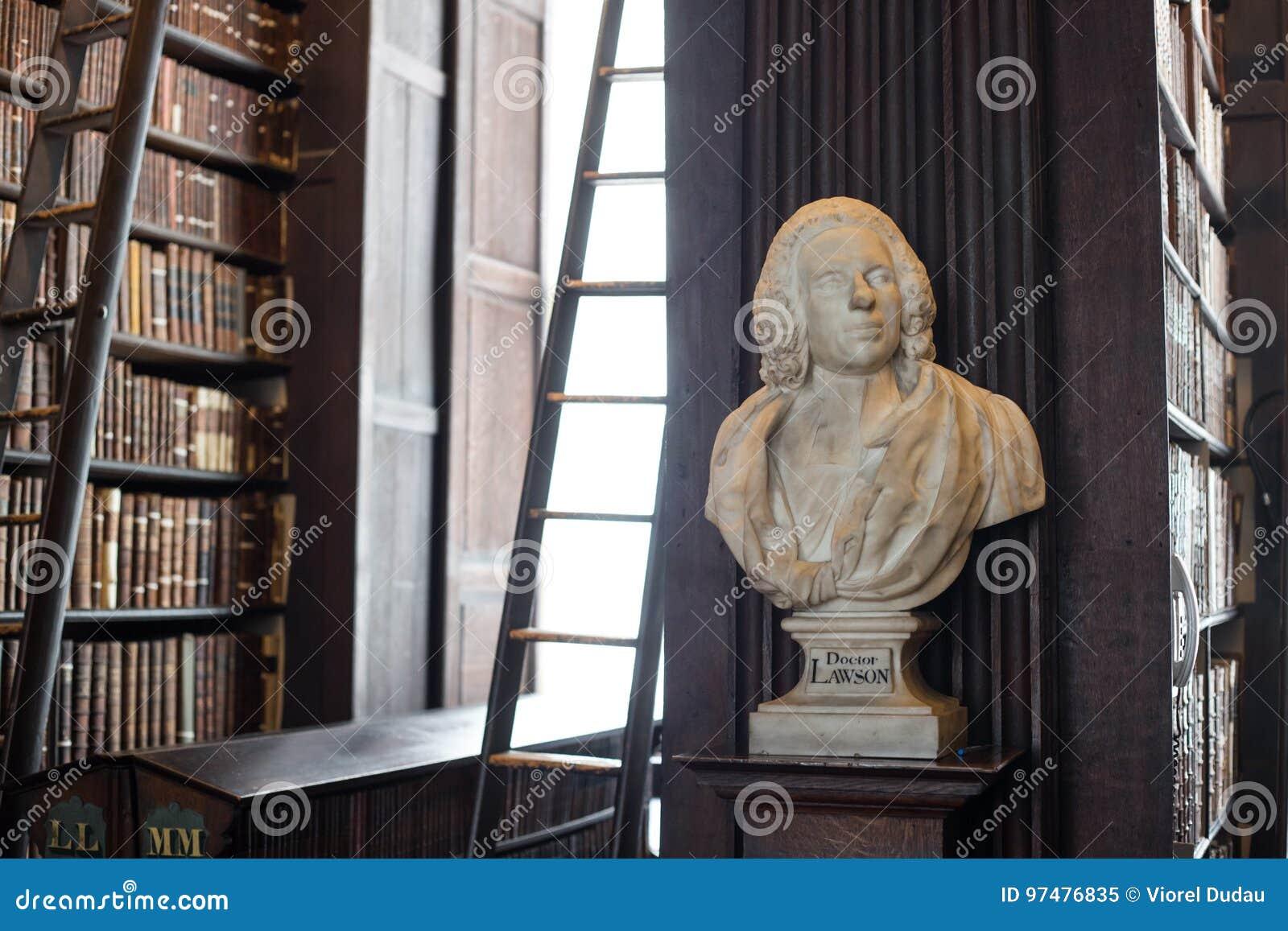 Busto del dottore Lawson in Trinity College