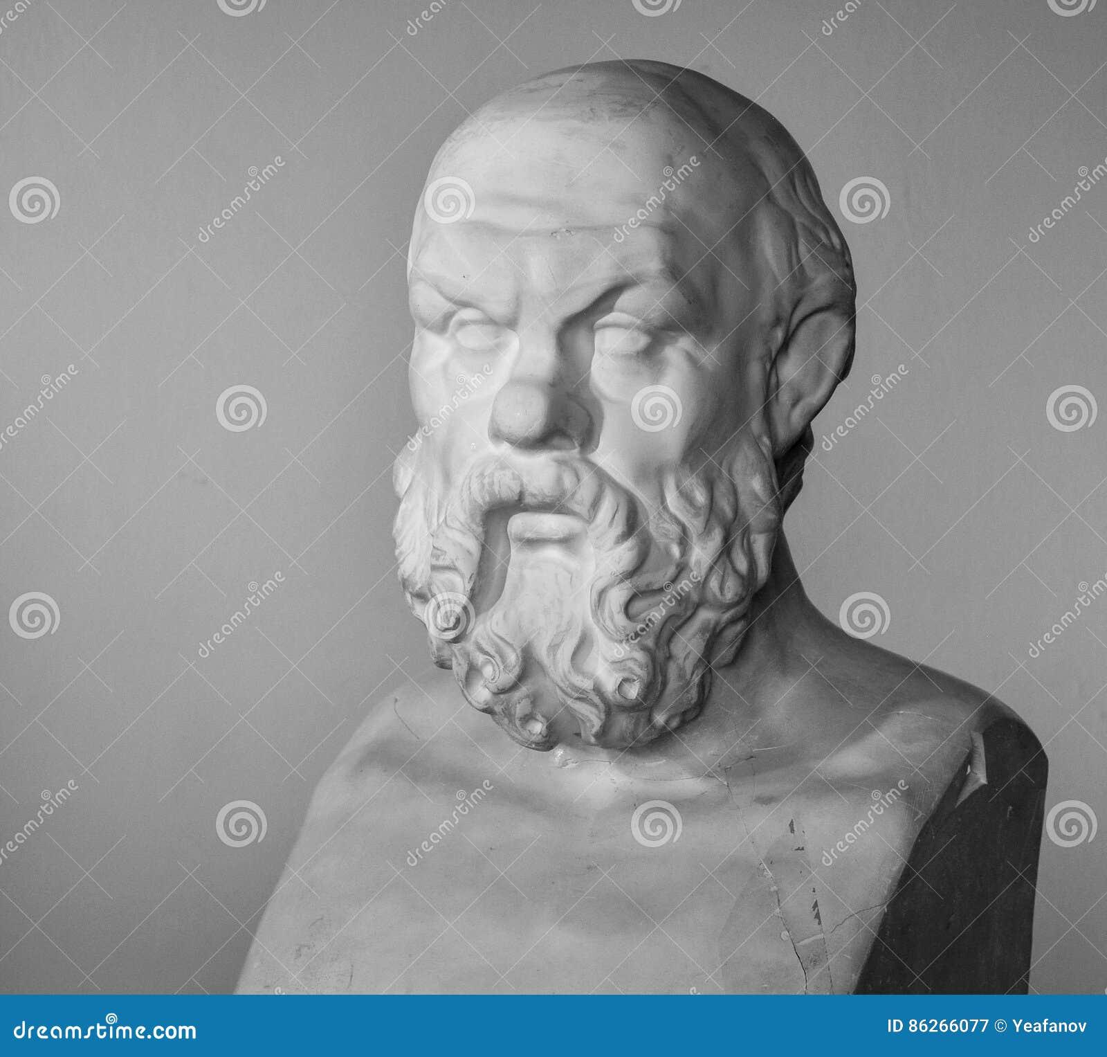 Busto del gesso di Socrates