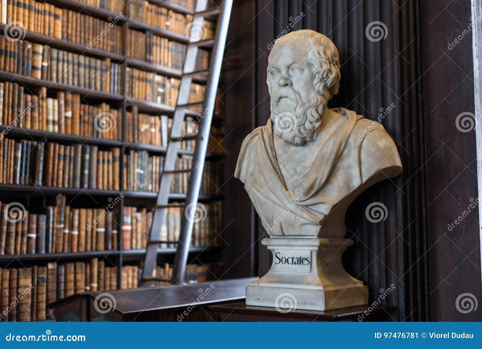 Busto di Socrates in Trinity College