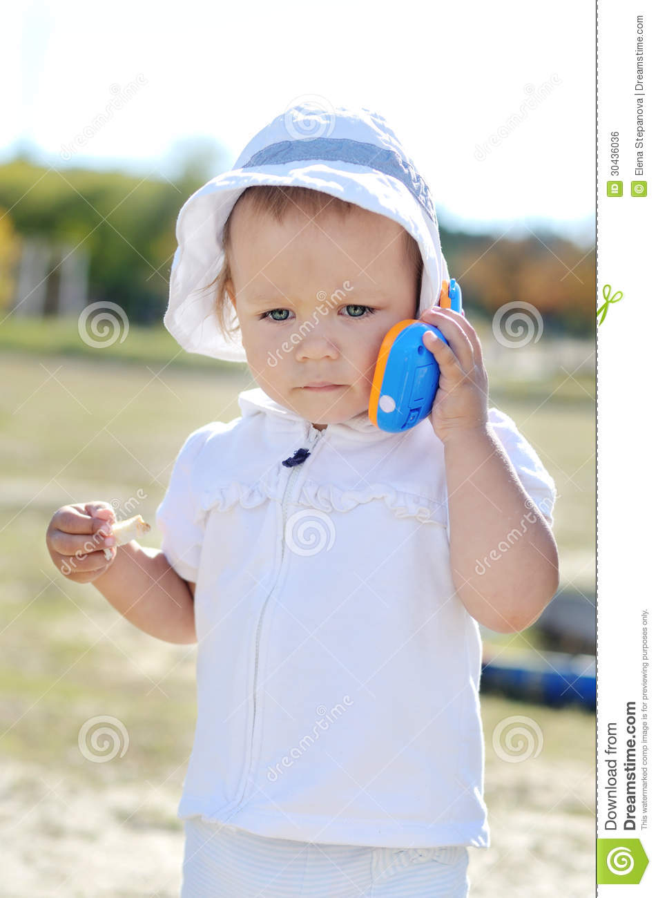 Busy Baby Girl Royalty Free Stock Image - Image: 30436036