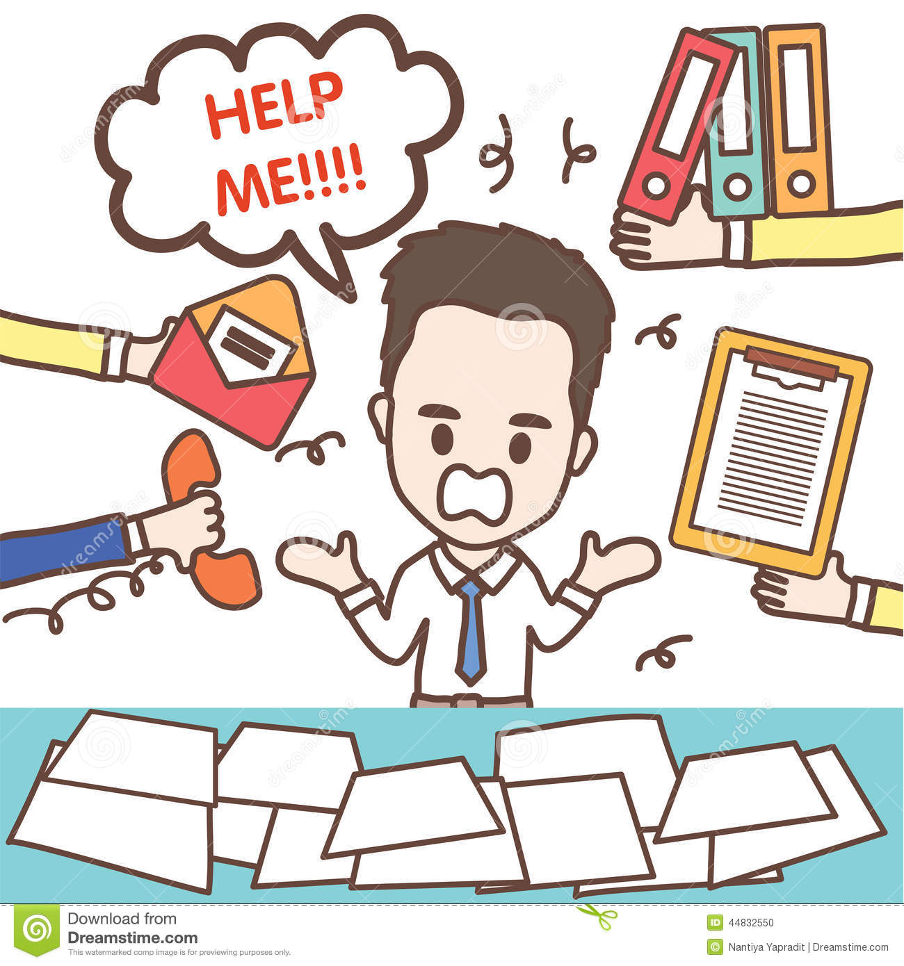 set of cute characters businessman and office worker , illustration