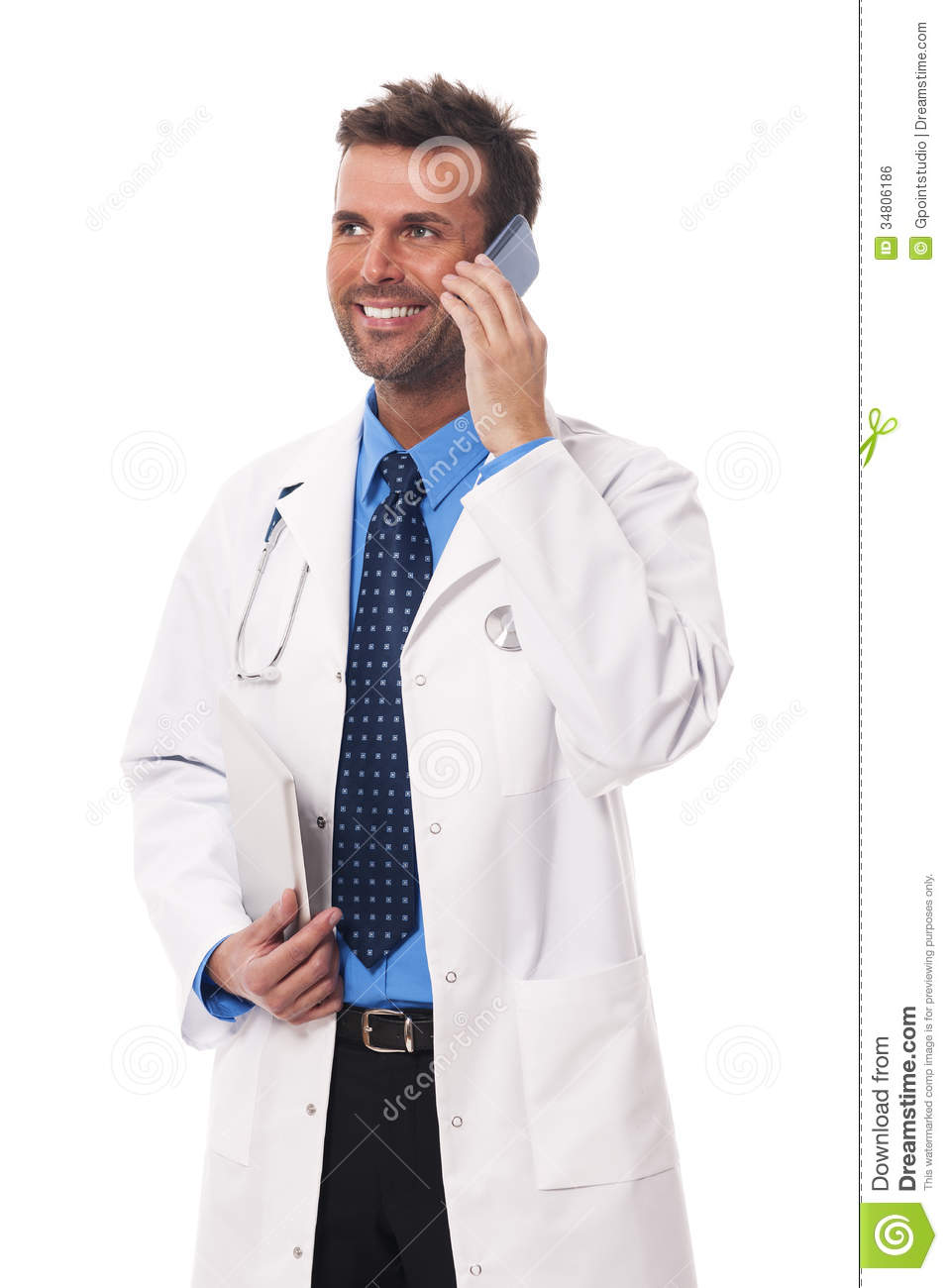 Busy Doctor Royalty Free Stock Image - Image: 34806186