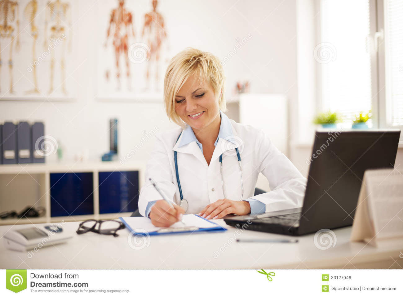Busy Doctor At Her Office Royalty Free Stock Image - Image ...