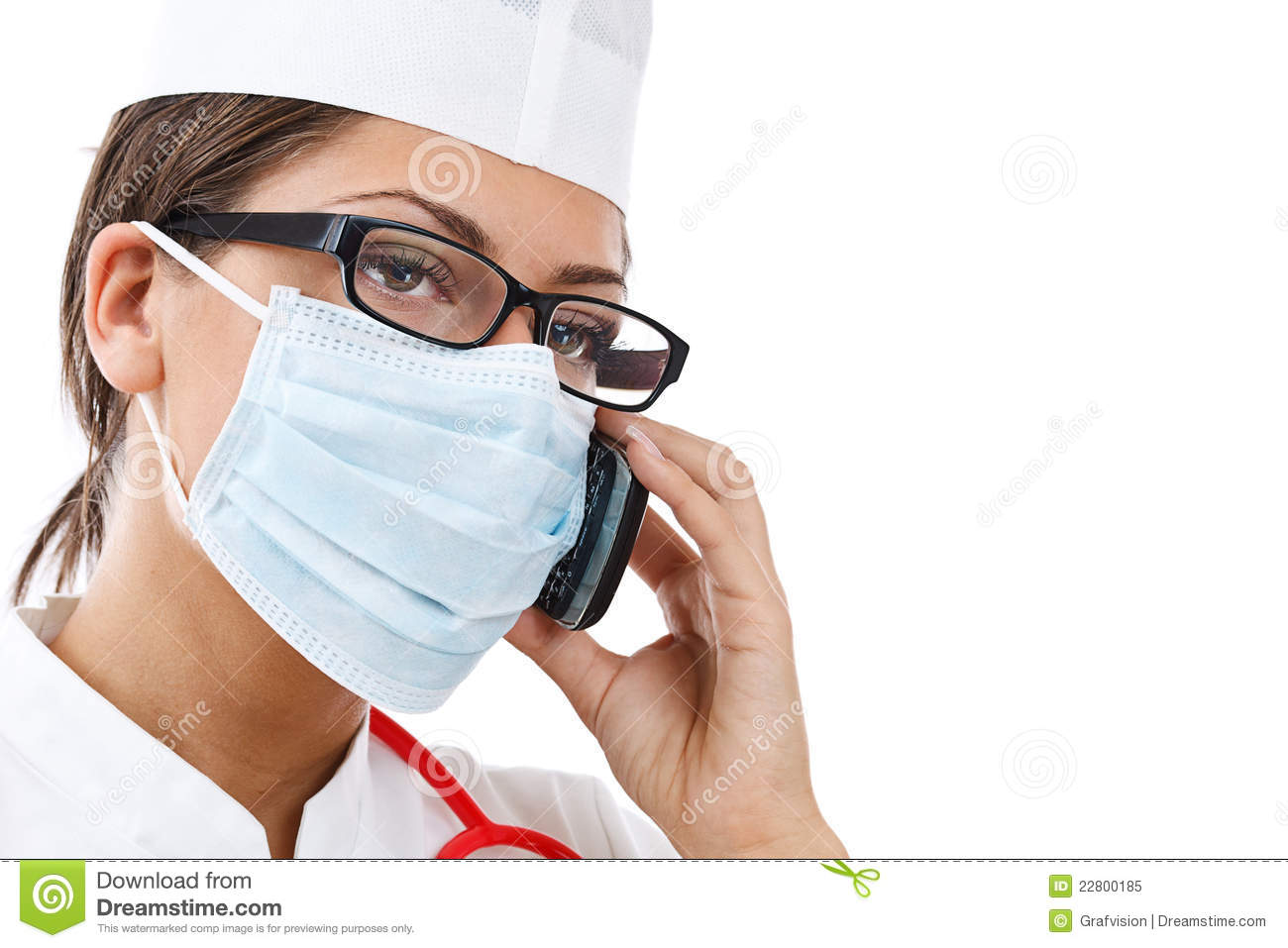 Busy Female Doctor Royalty Free Stock Photo - Image: 22800185