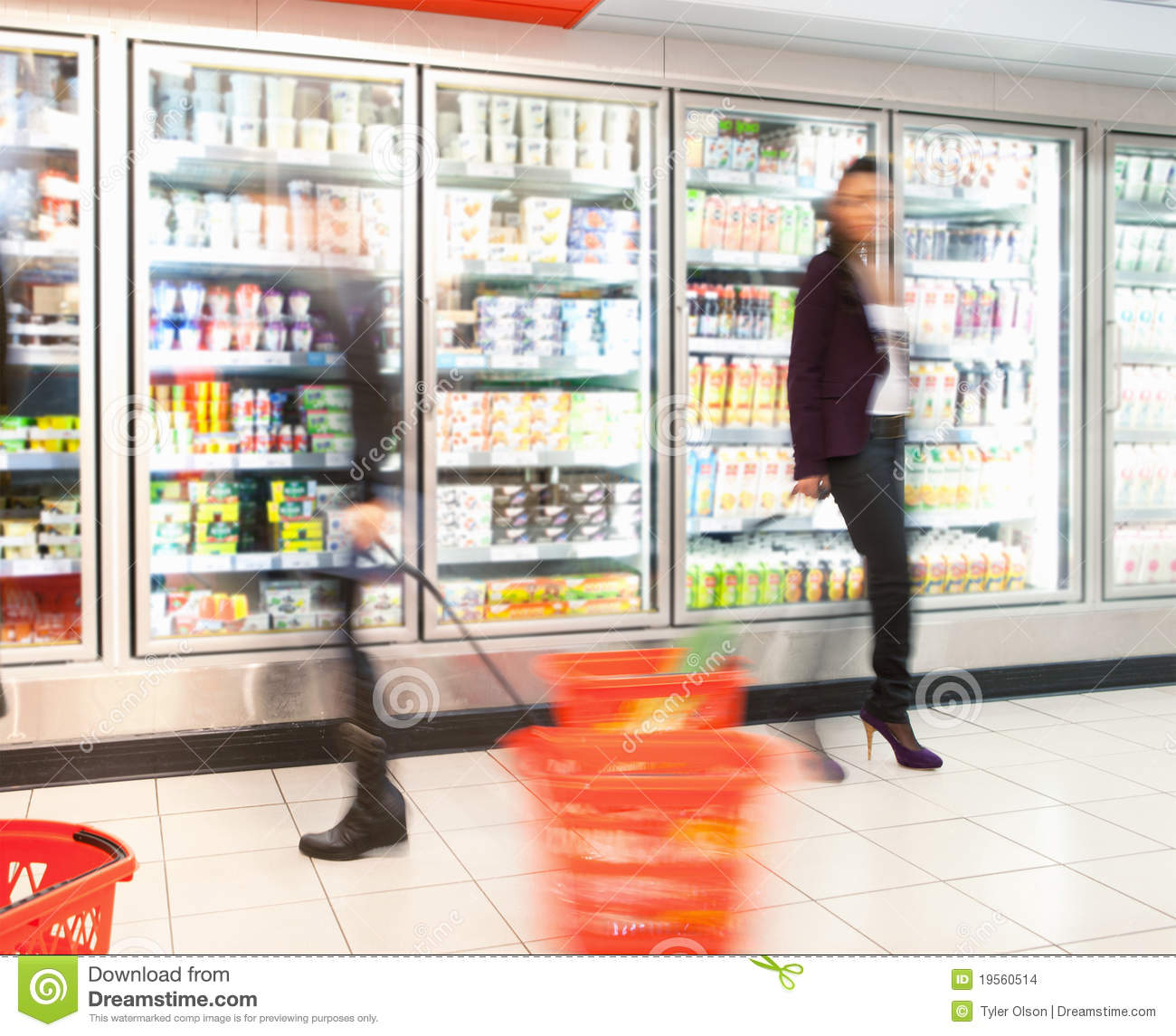 Busy Grocery Store Stock Images Image 19560514