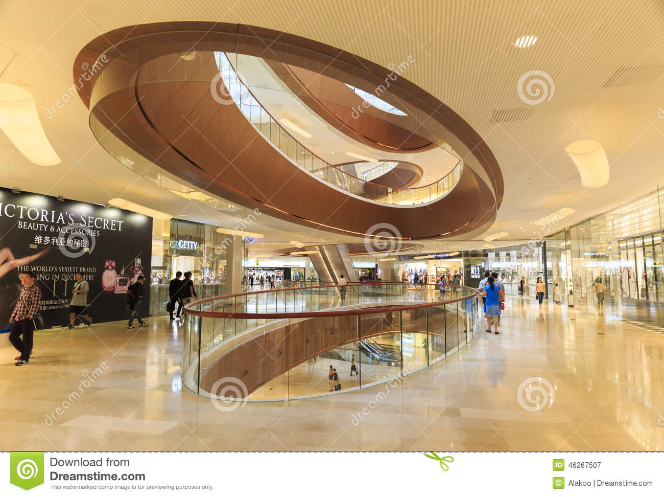 Shopping center editorial photography image of buyers for Free people store decor