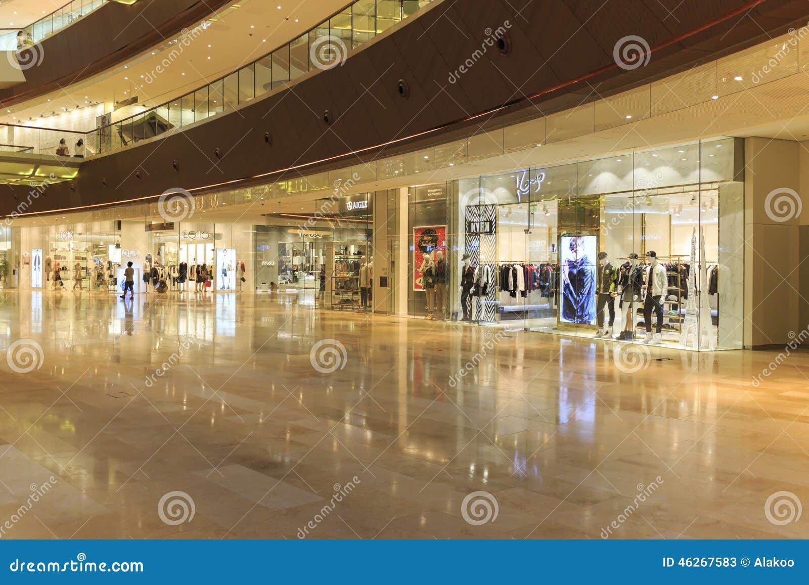 Foyer Hallway Store : Shopping mall editorial stock photo image