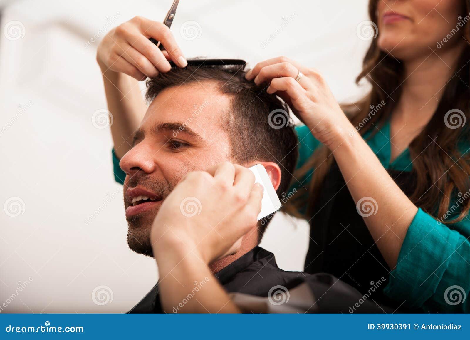 Busy man in a barber shop stock photo image 39930391 for Adda beauty salon cartierul latin