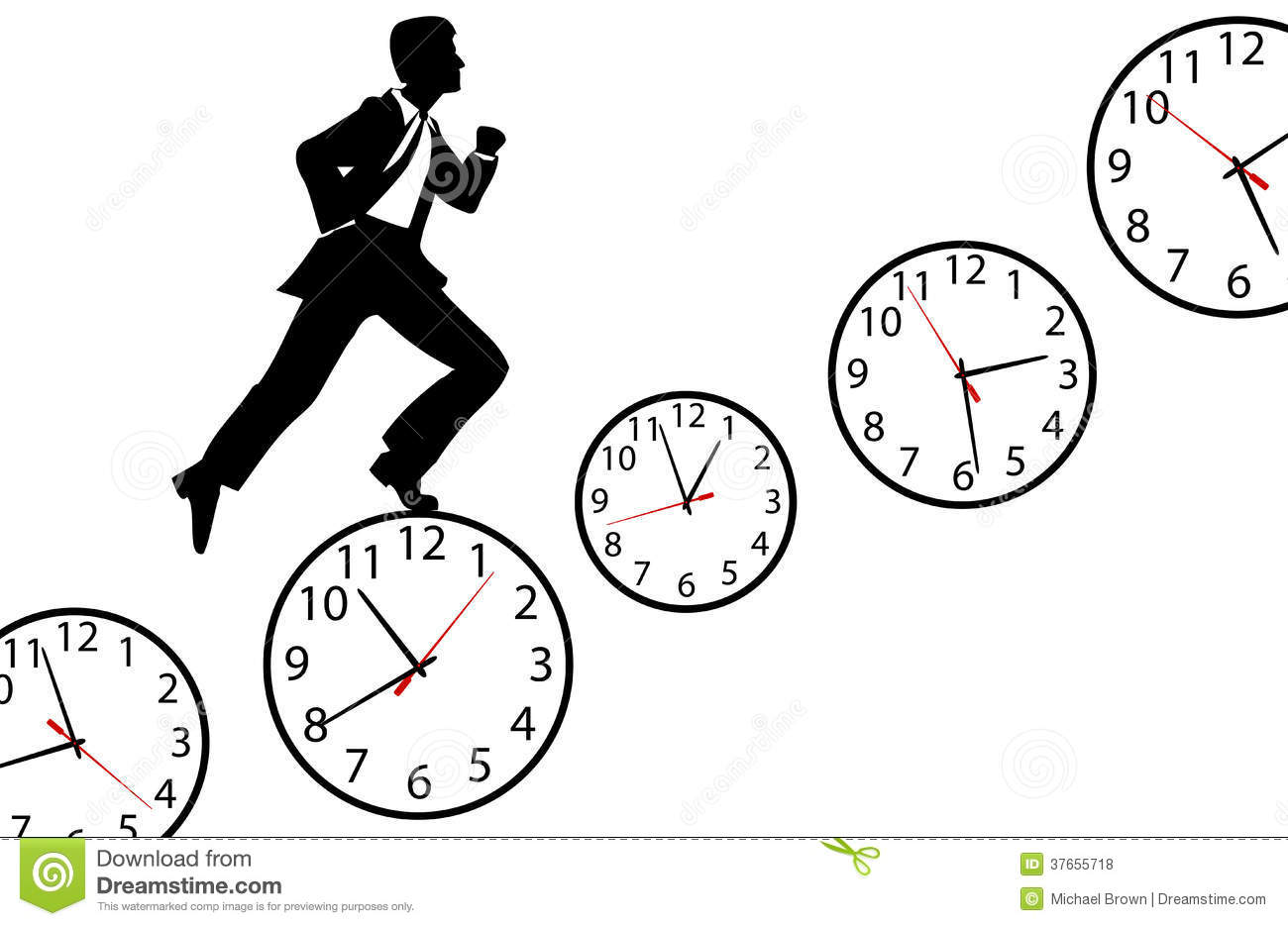 Enjoyable Note Memos Busy Day Time Clock Stock Vector Image 42426820 Easy Diy Christmas Decorations Tissureus