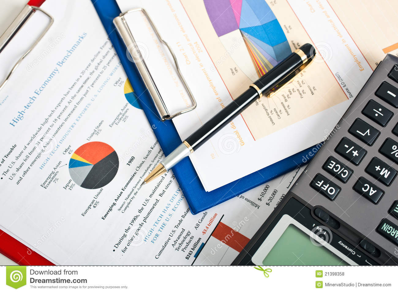Busy Office Desk Royalty Free Stock Photos - Image: 21398358