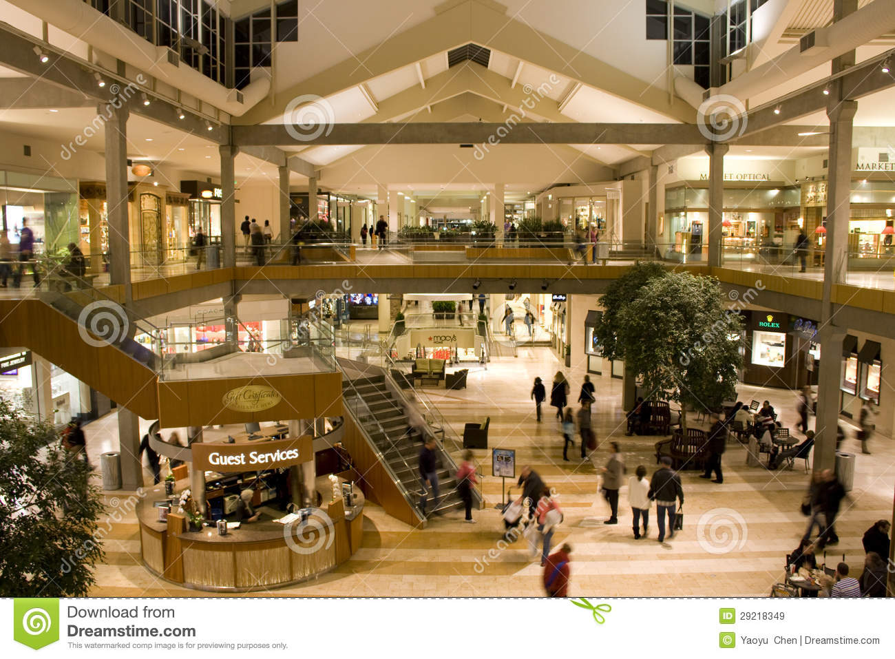 Busy shopping mall editorial stock image image 29218349 for 7 salon bellevue square