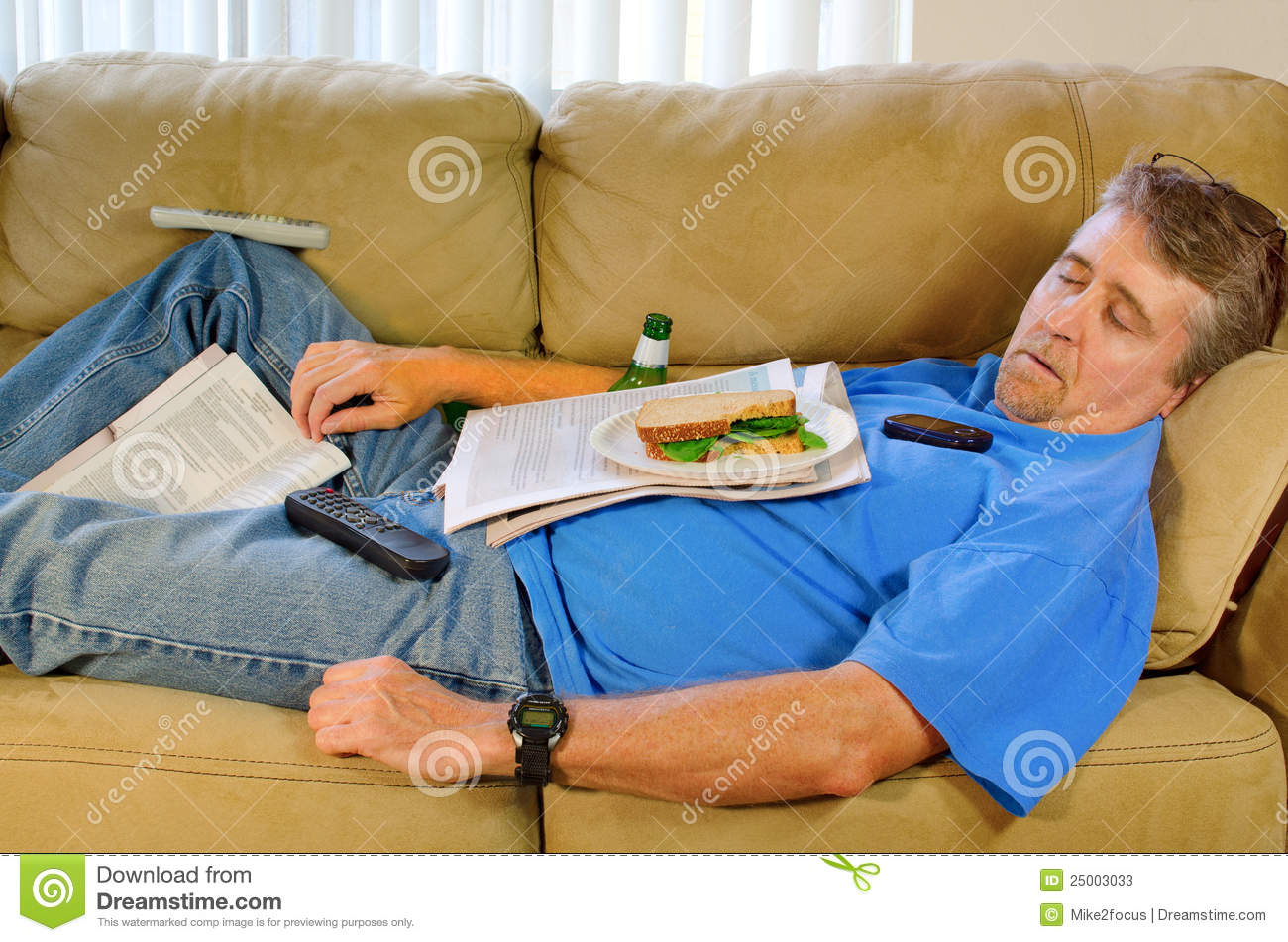 Image gallery napping man for Couch you can sleep on