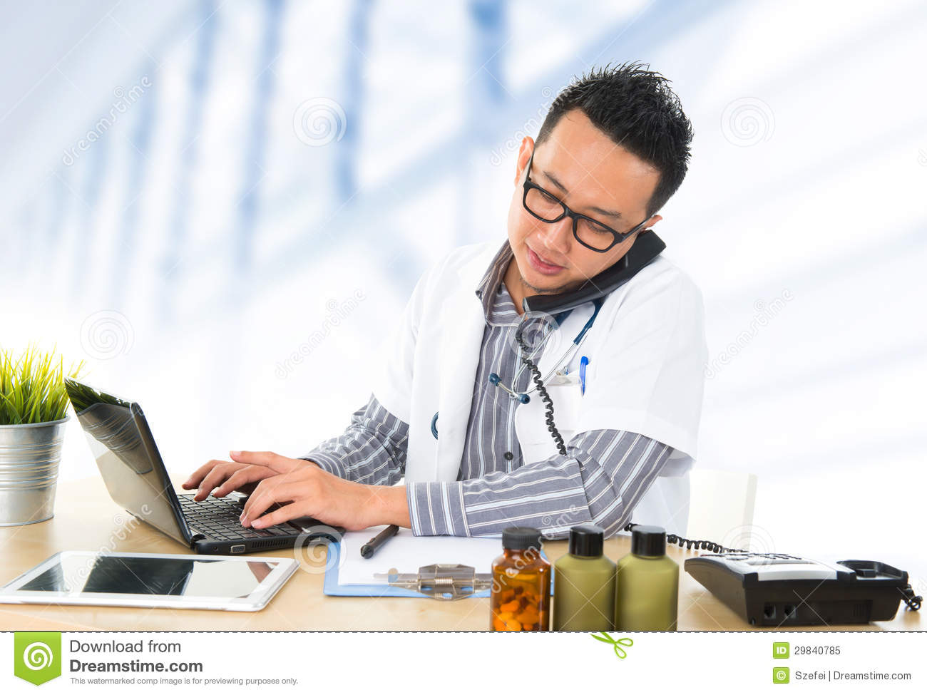 Busy Southeast Asian Medical Doctor Stock Image - Image of ...