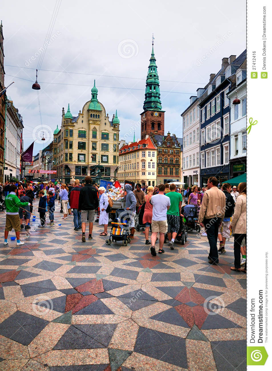 Busy street in copenhagen denmark editorial photo image for Centre des arts shawinigan piscine