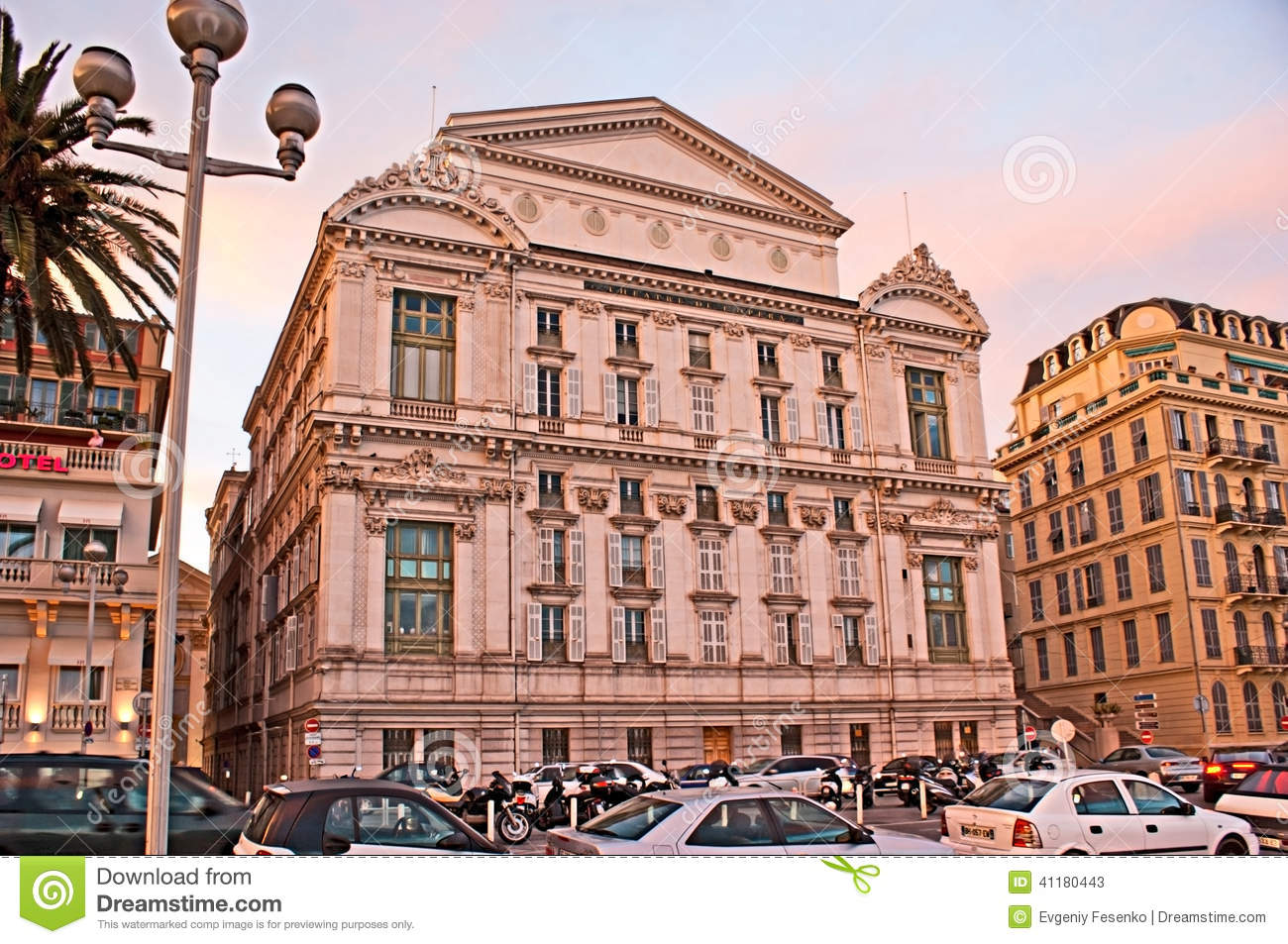 The busy street editorial stock photo image 41180443 for Luxury hotels in nice