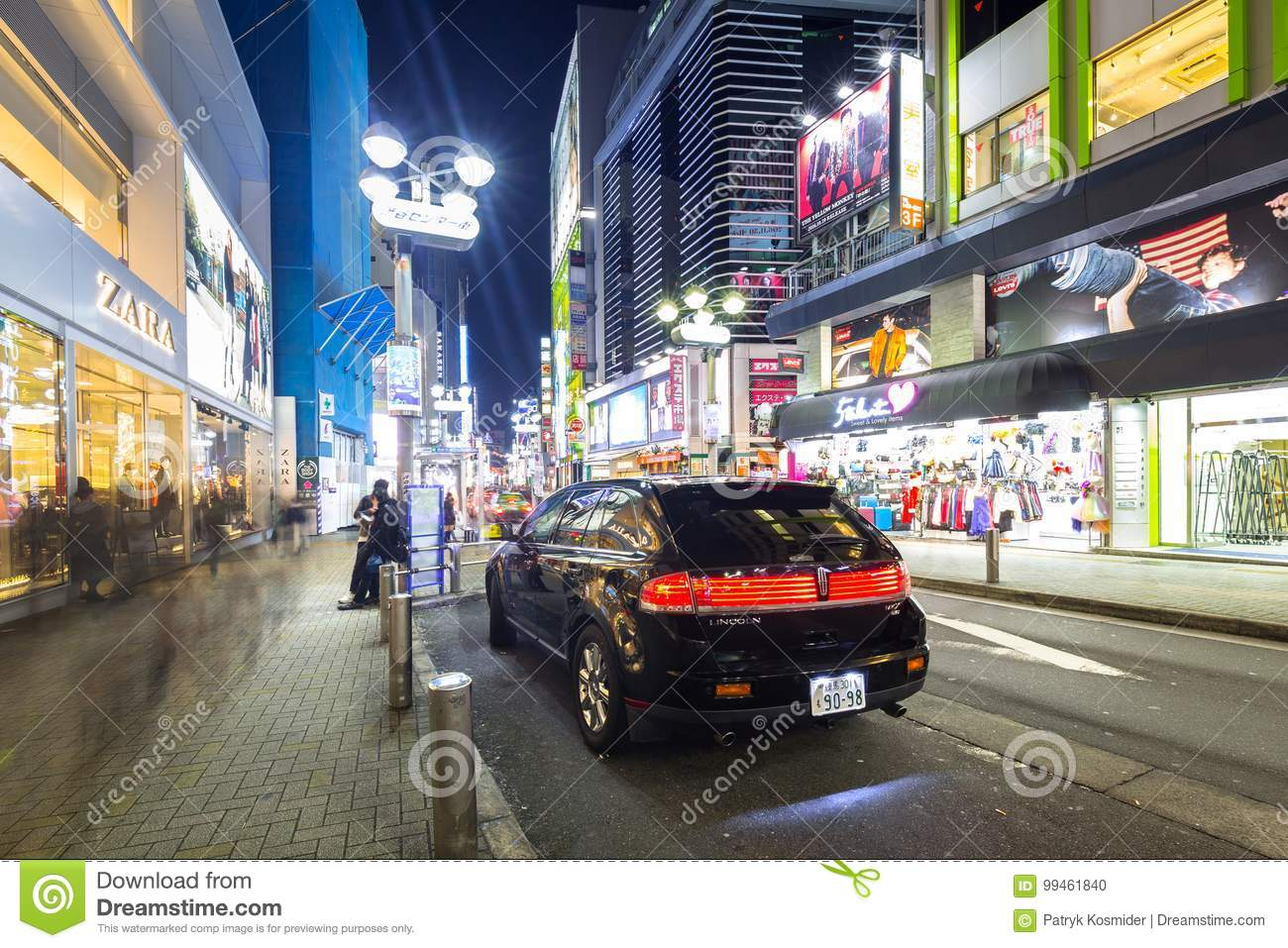 Busy Streets Of Shibuya District In Tokyo Editorial Image