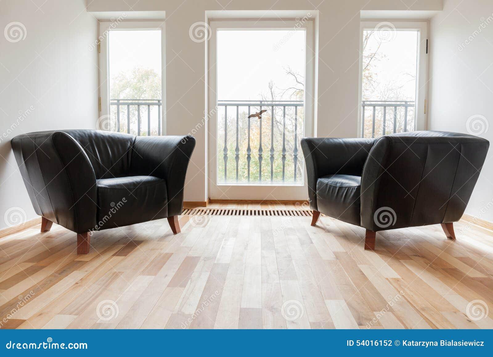 Butacas negras de cuero en un cuarto foto de archivo imagen 54016152 - Butacas para habitacion ...