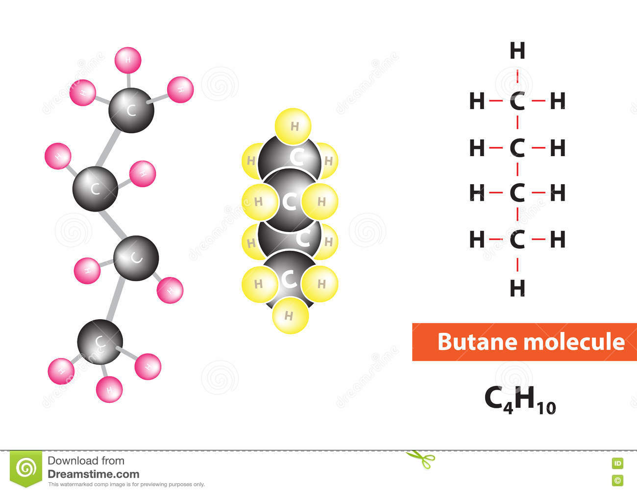 hydrocarbon alkane molecules set vector illustration