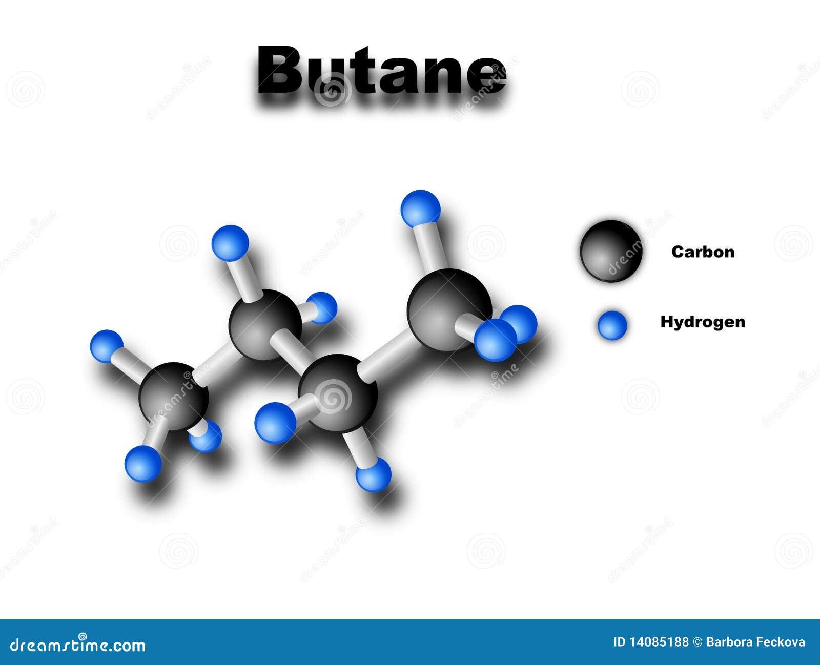 Butane Molecule Royalty Free Stock Photos