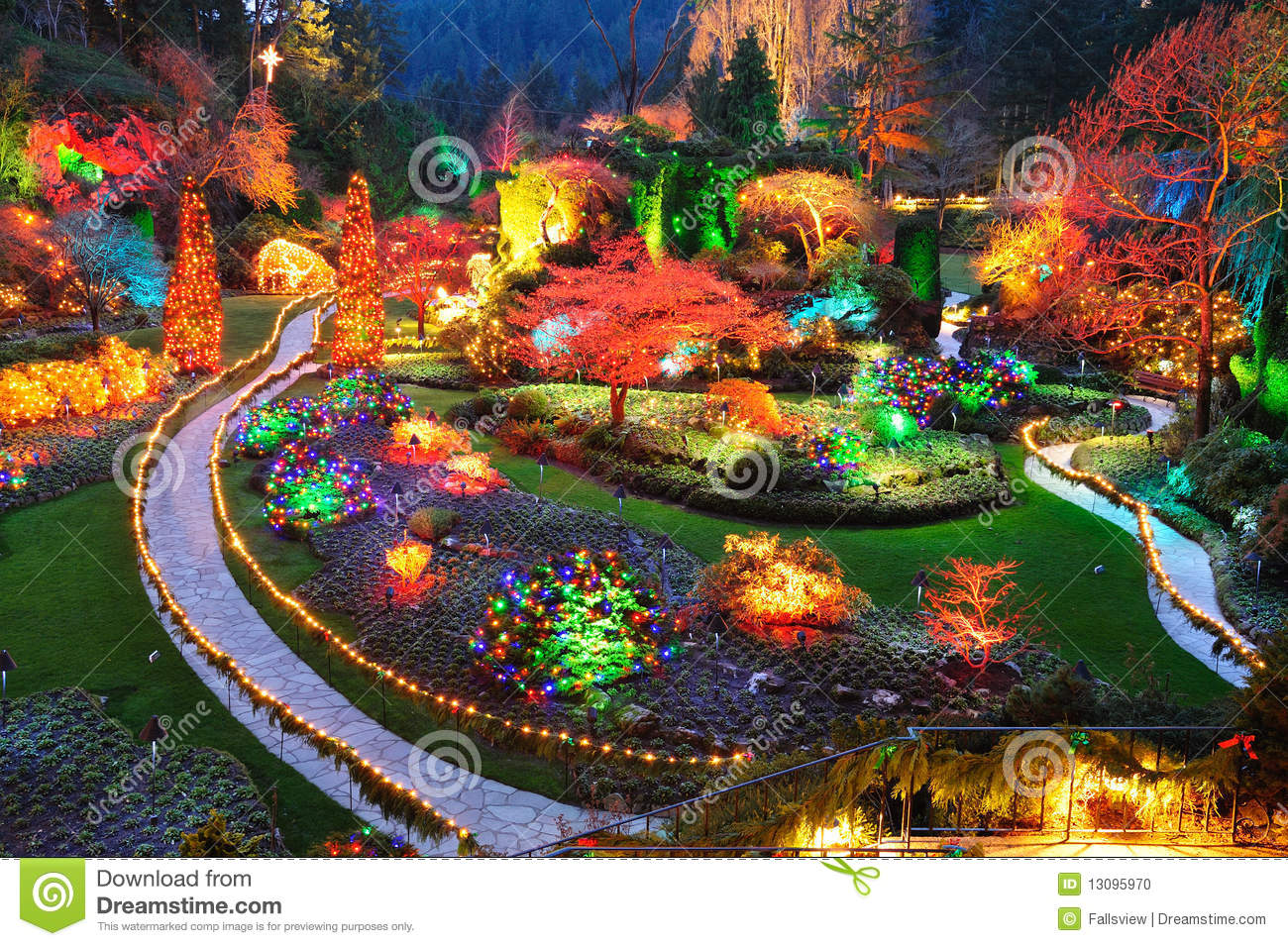 Butchart Gardens Victoria Bc Stock Photo Image 13095970