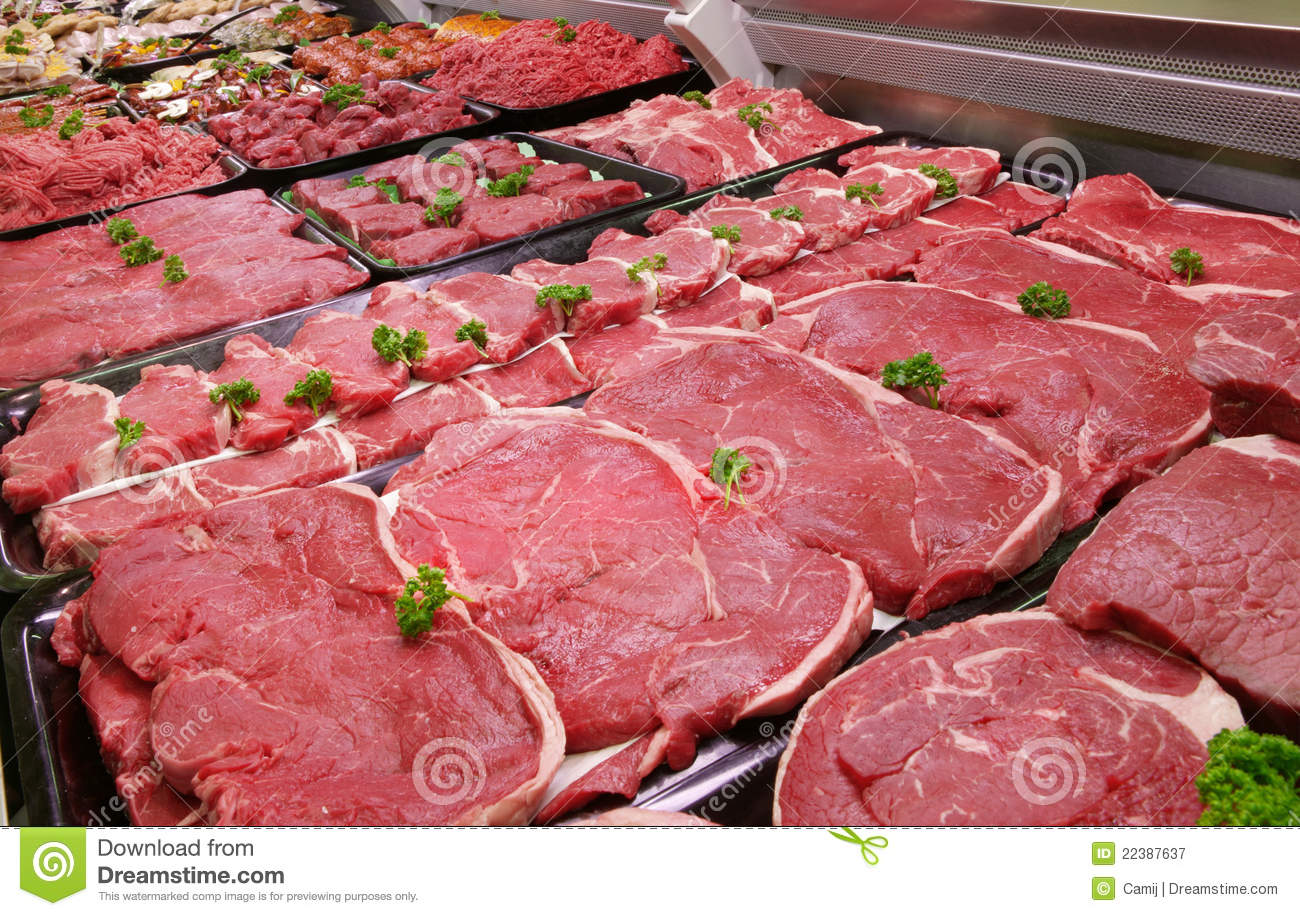 Butcher S Counter Stock Image Image Of Grocery Quality