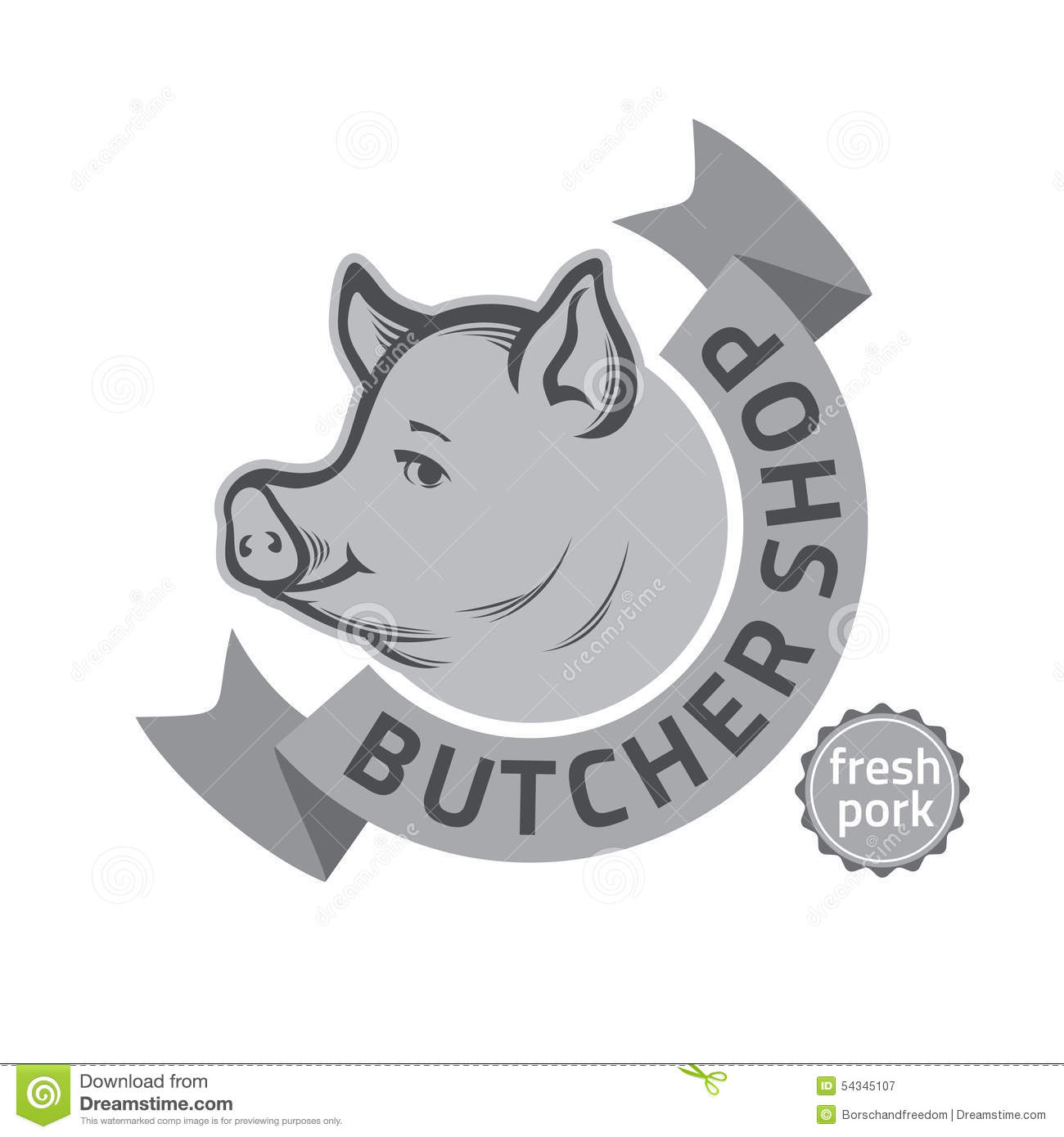 butcher shop logo stock vector image 54345107