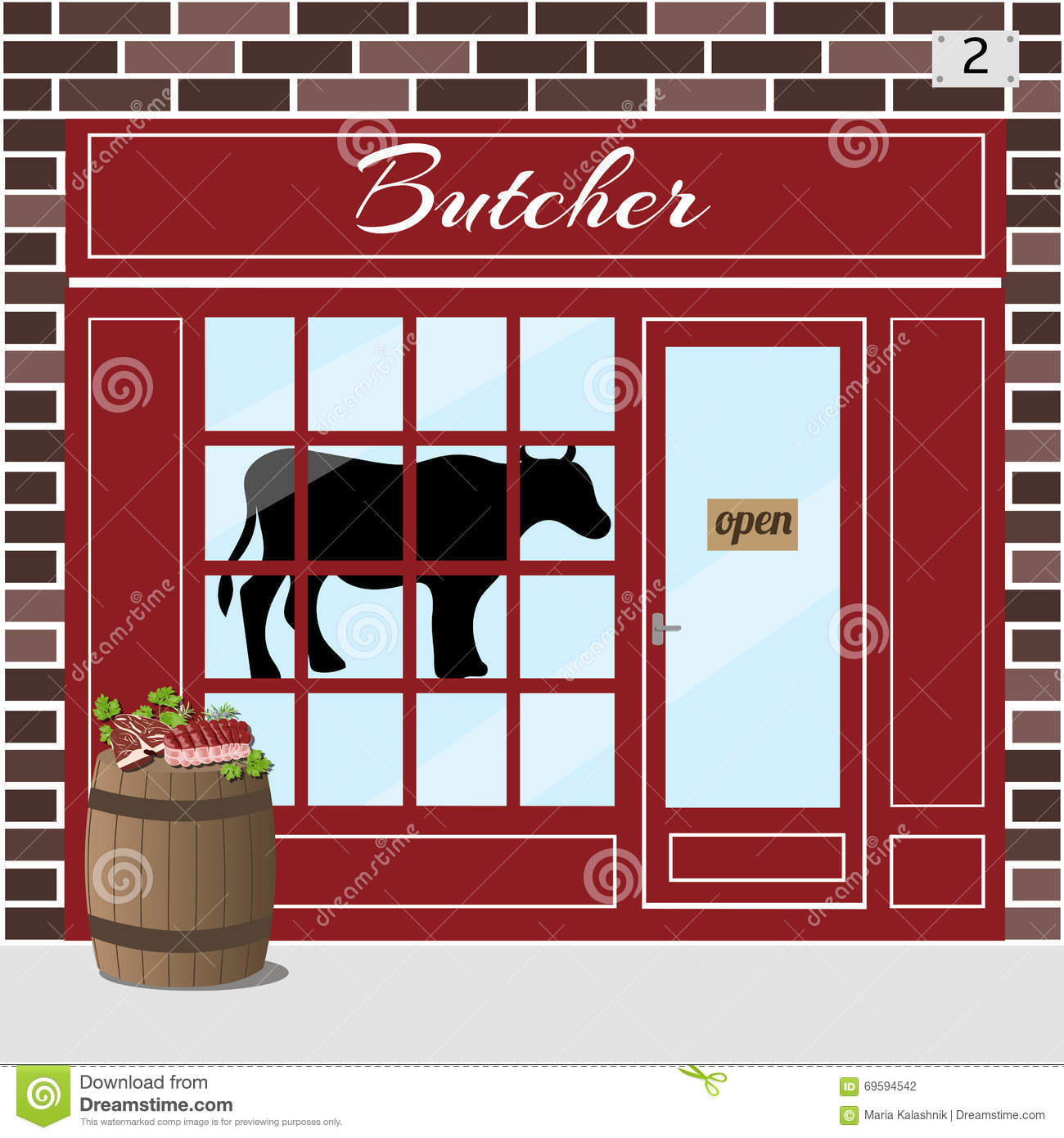 Pork meat in a shop window royalty free stock image 5113 - Stickers facade cuisine ...