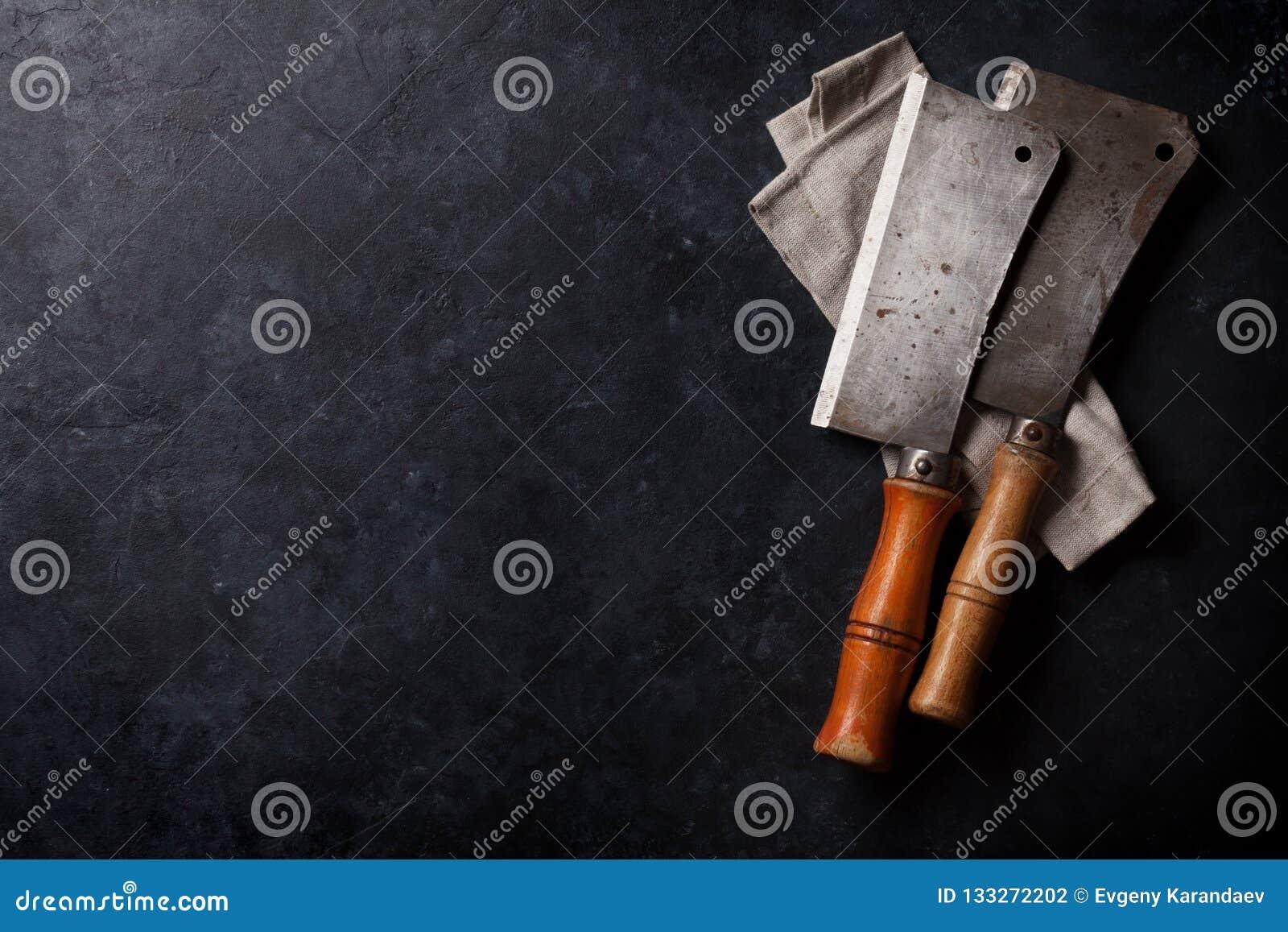 Butcher. Vintage meat knives