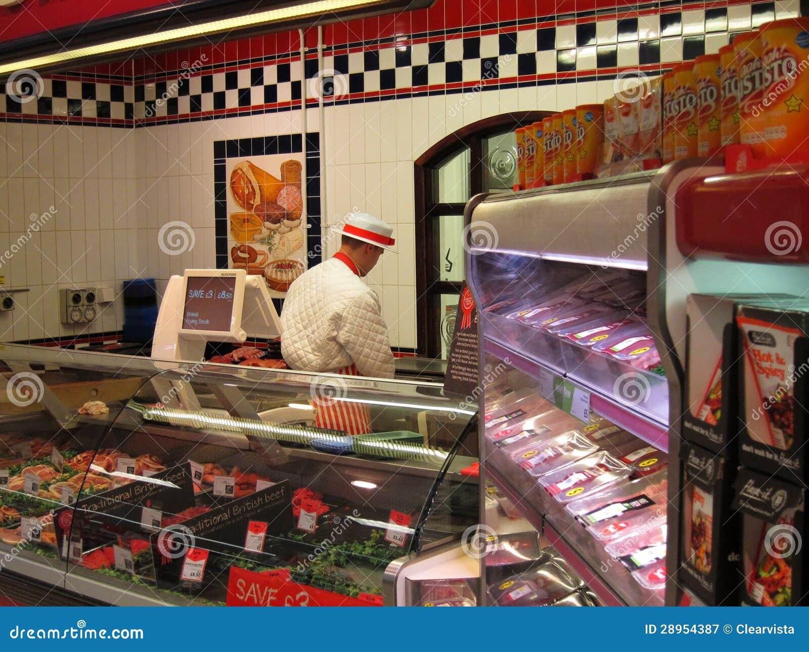 Butchery dział w supermarkecie.