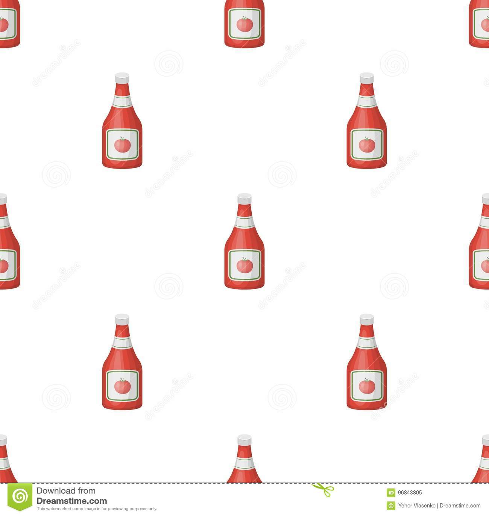 Buteljera av ketchup Lagerför den enkla symbolen för hamburgare och för ingredienser i symbol för tecknad filmstilvektor illustra