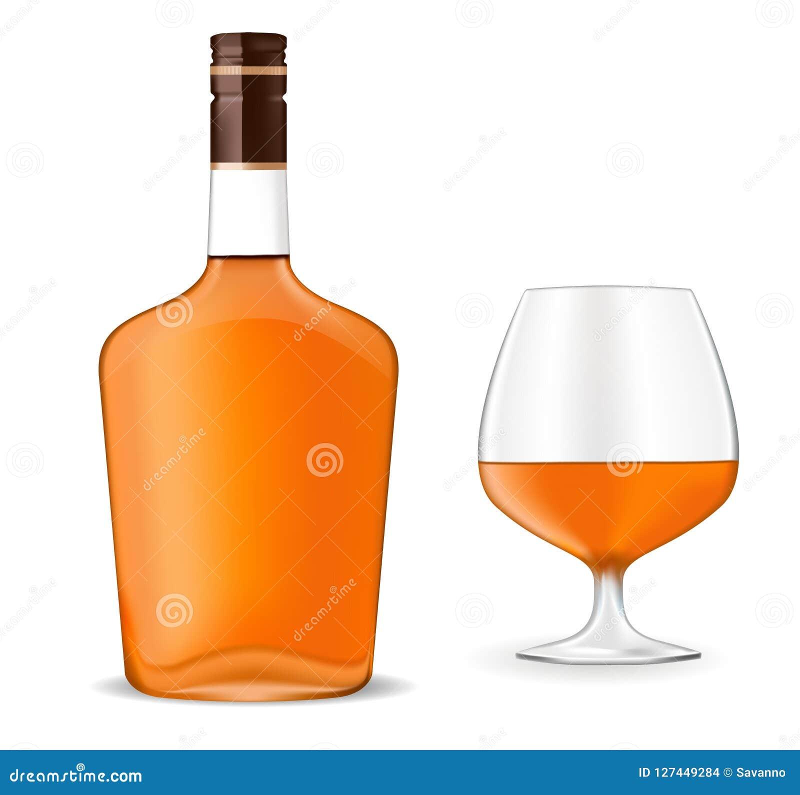 Butelka brandy i snifter