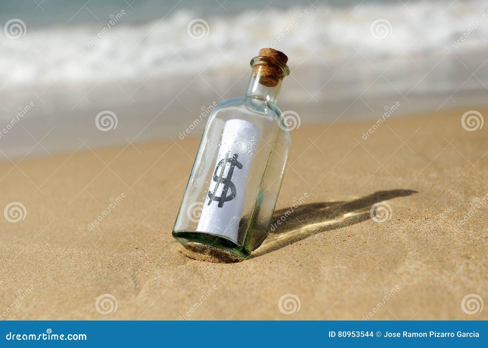 Butelka z dolarowym znakiem