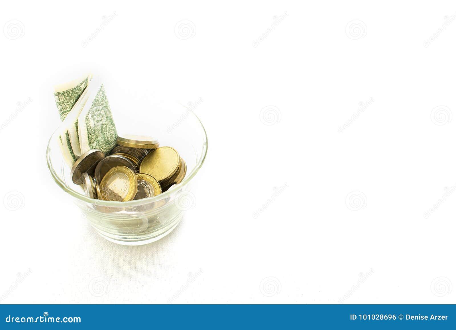 Butelka z pieniądze