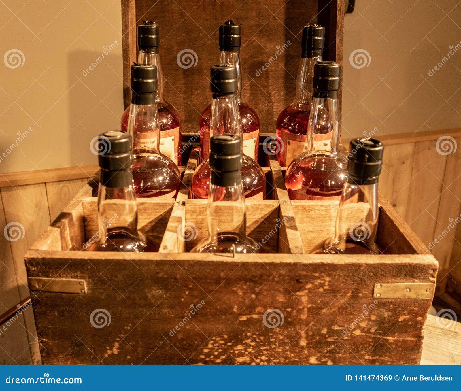 Butelki bourbon