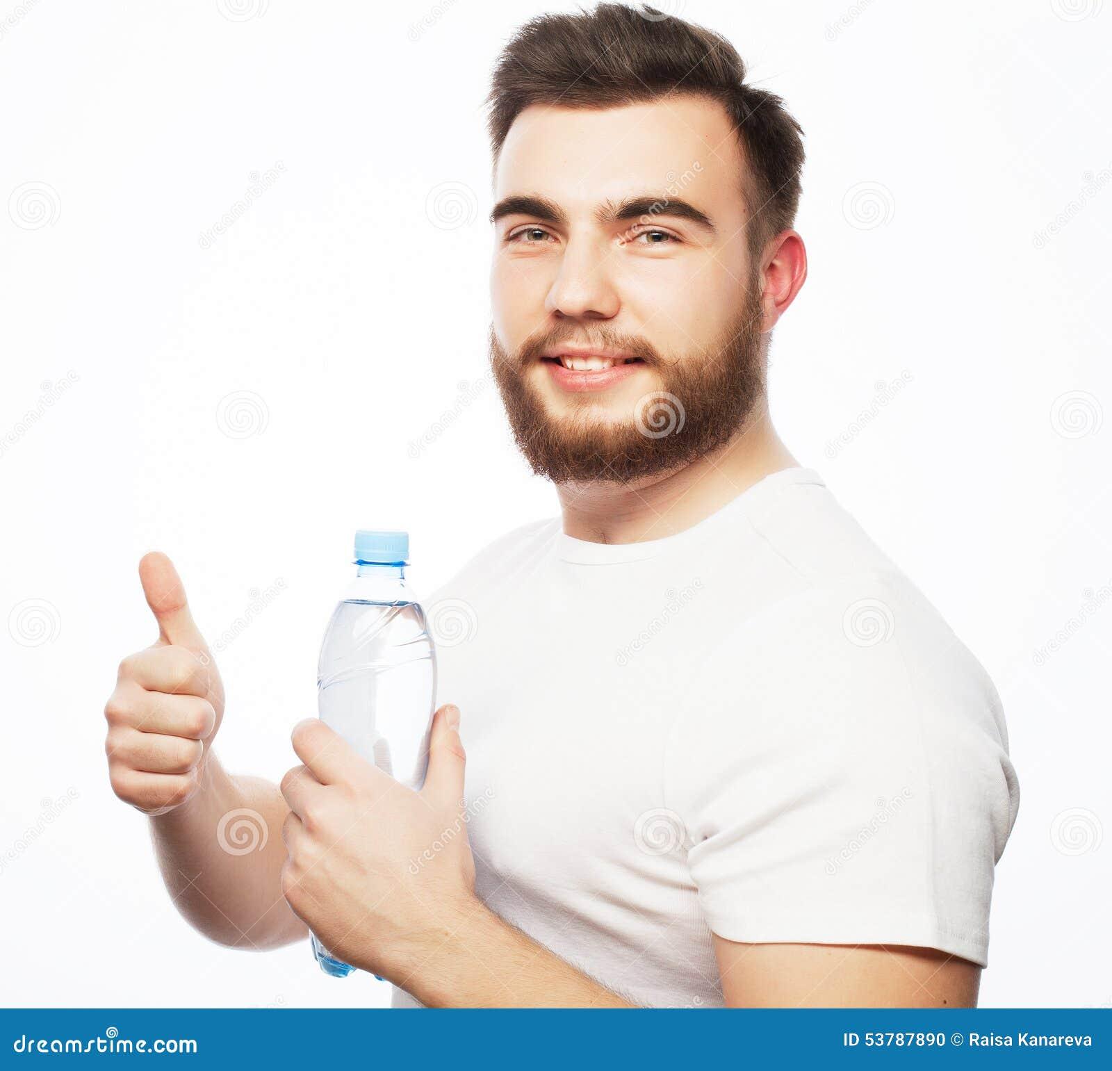 Butelki mężczyzna woda