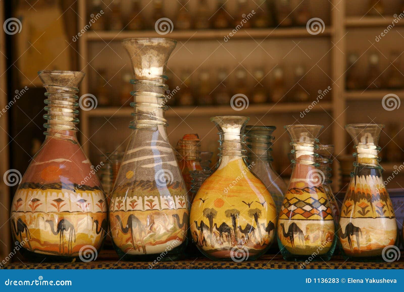 Butelki piasku