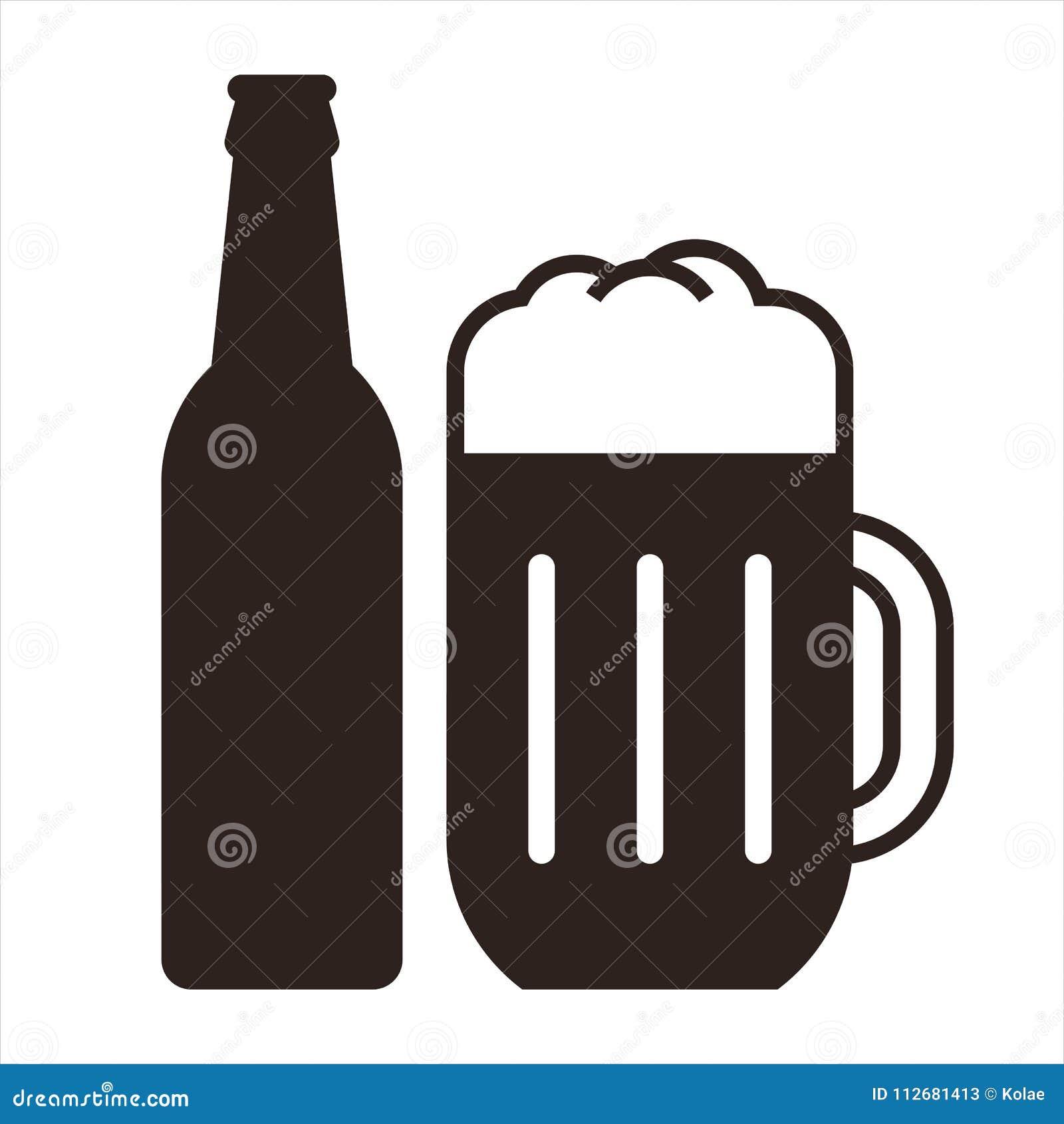 Butelki piwnej kubek