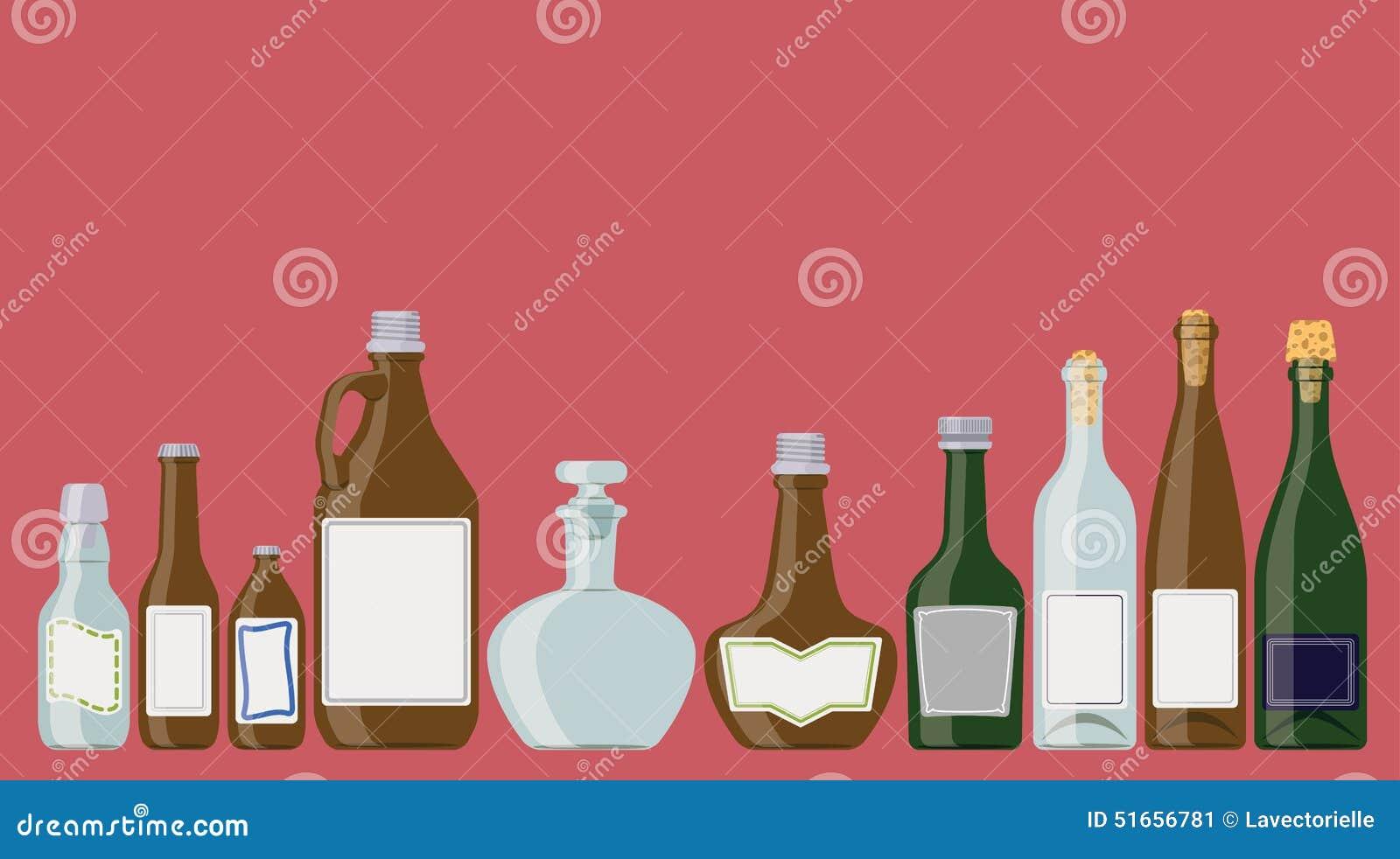 Butelki ustawiać: alkoholiczni napoje