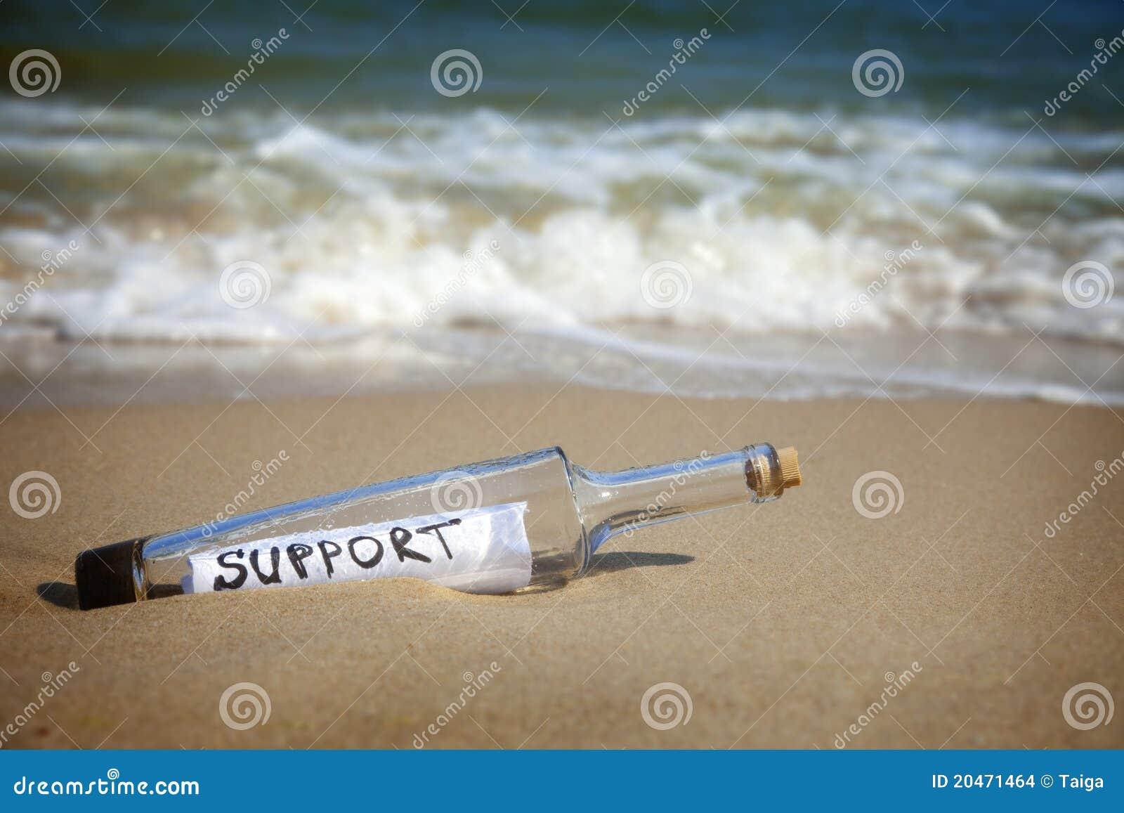 Butelki wiadomości poparcie