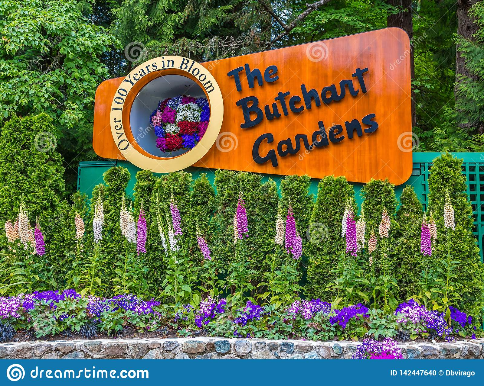 The sign of the butchart gardens editorial image - What time does victoria gardens close ...