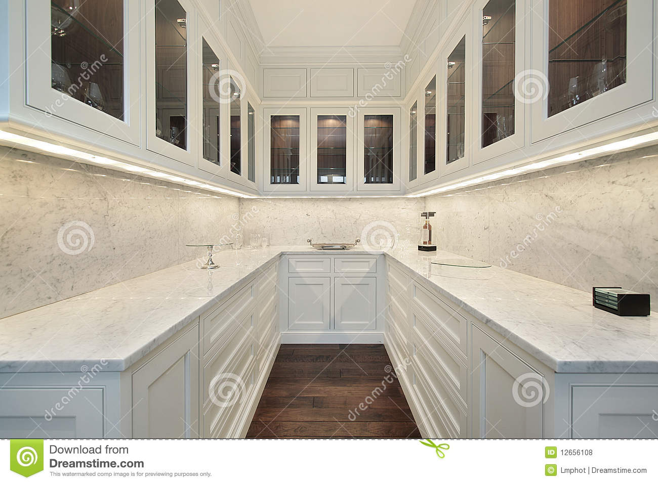 Royalty Free Stock Photos Butler S Pantry Luxury Home Image12656108 on black kitchen pantry cabinets free standing