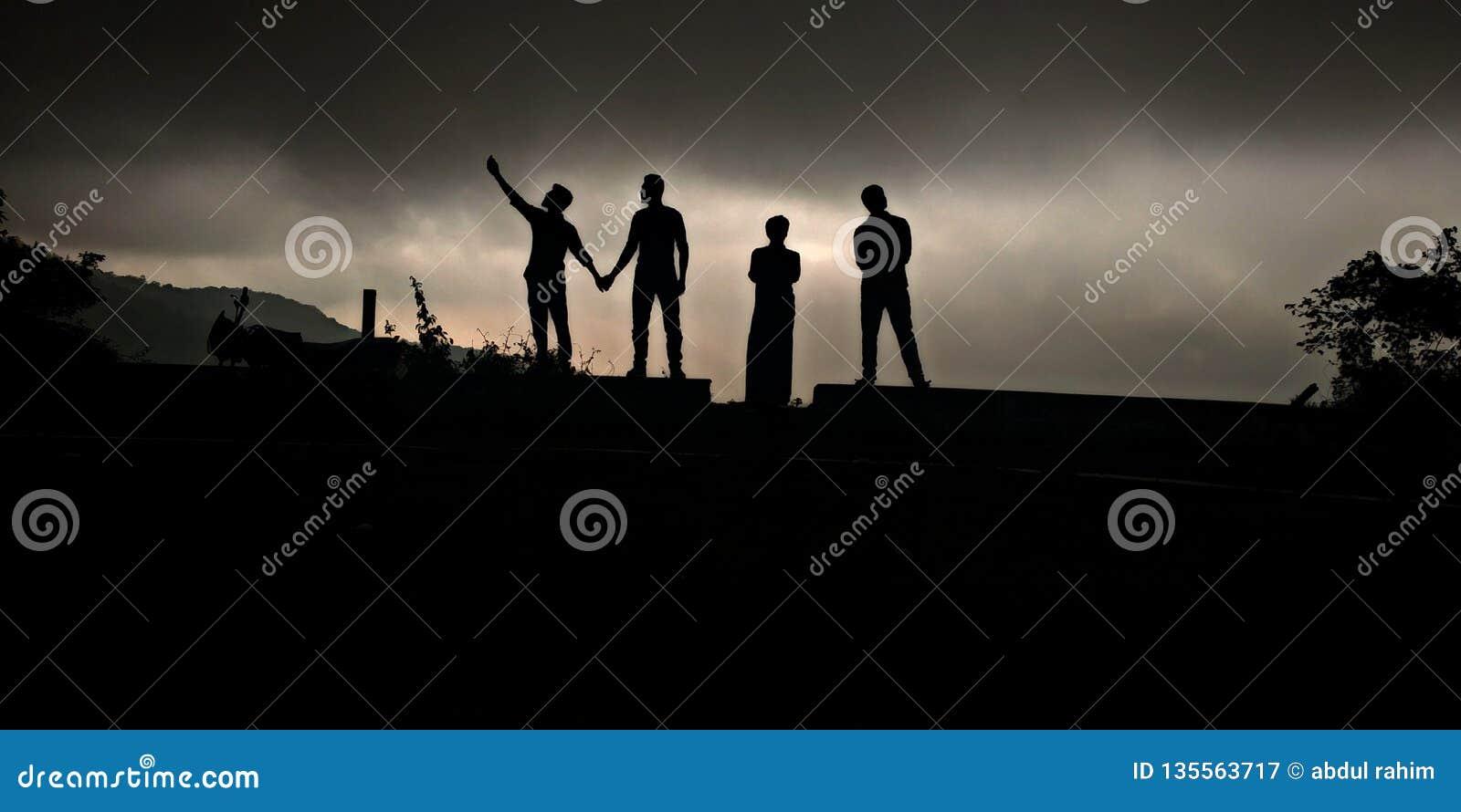 Buts d amitié de la photographie d ombre