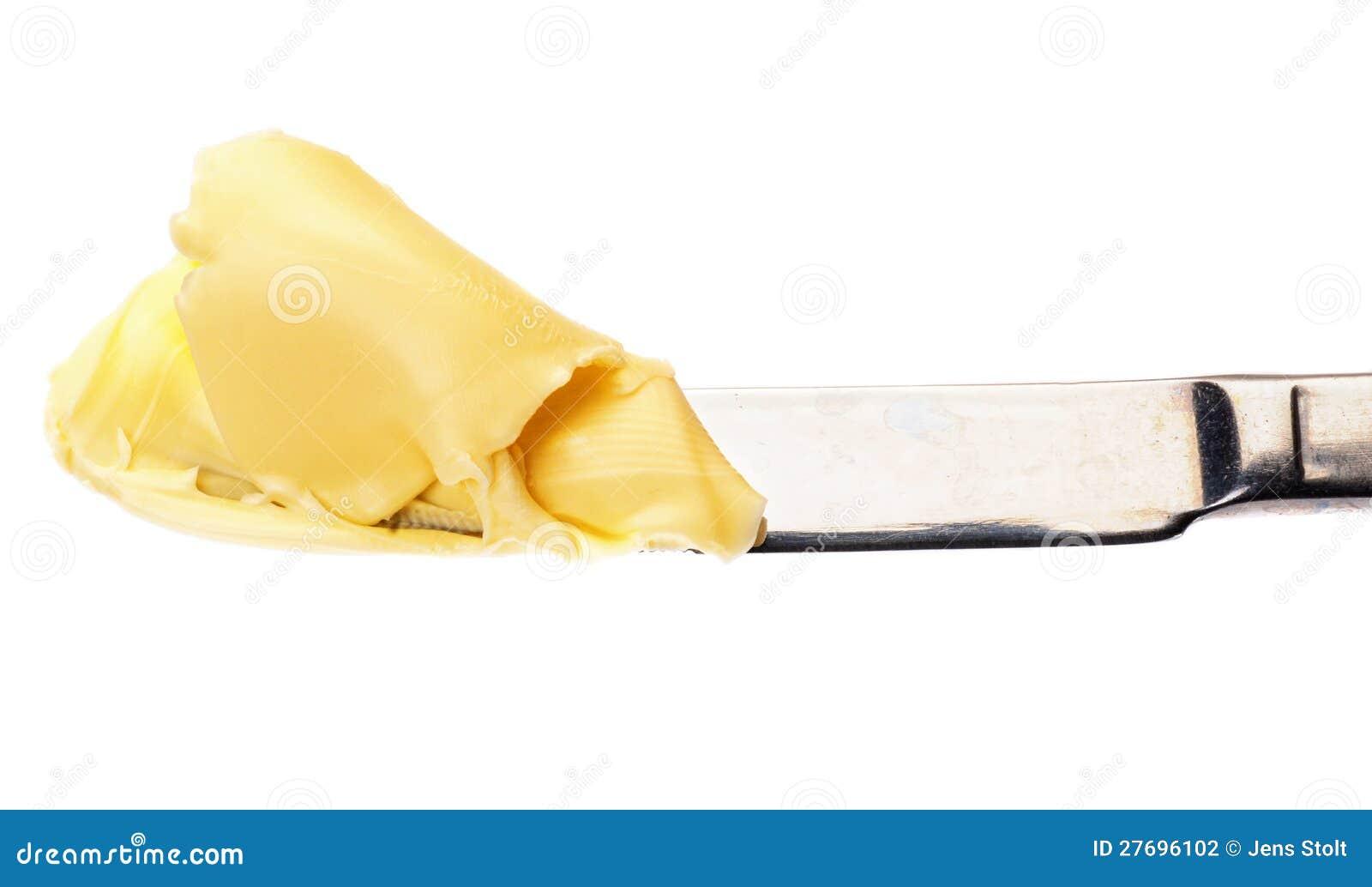 Butter auf einem Messer