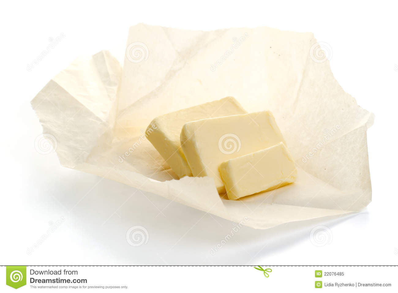 butter on paper royalty free stock photo