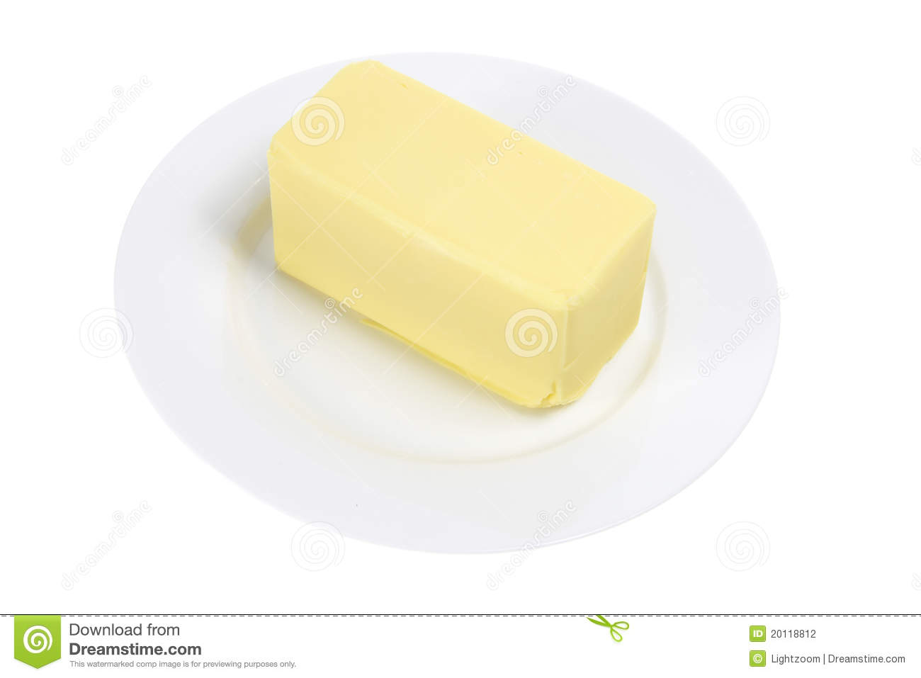 Butter On Plate Stock Photography - Image: 20118812